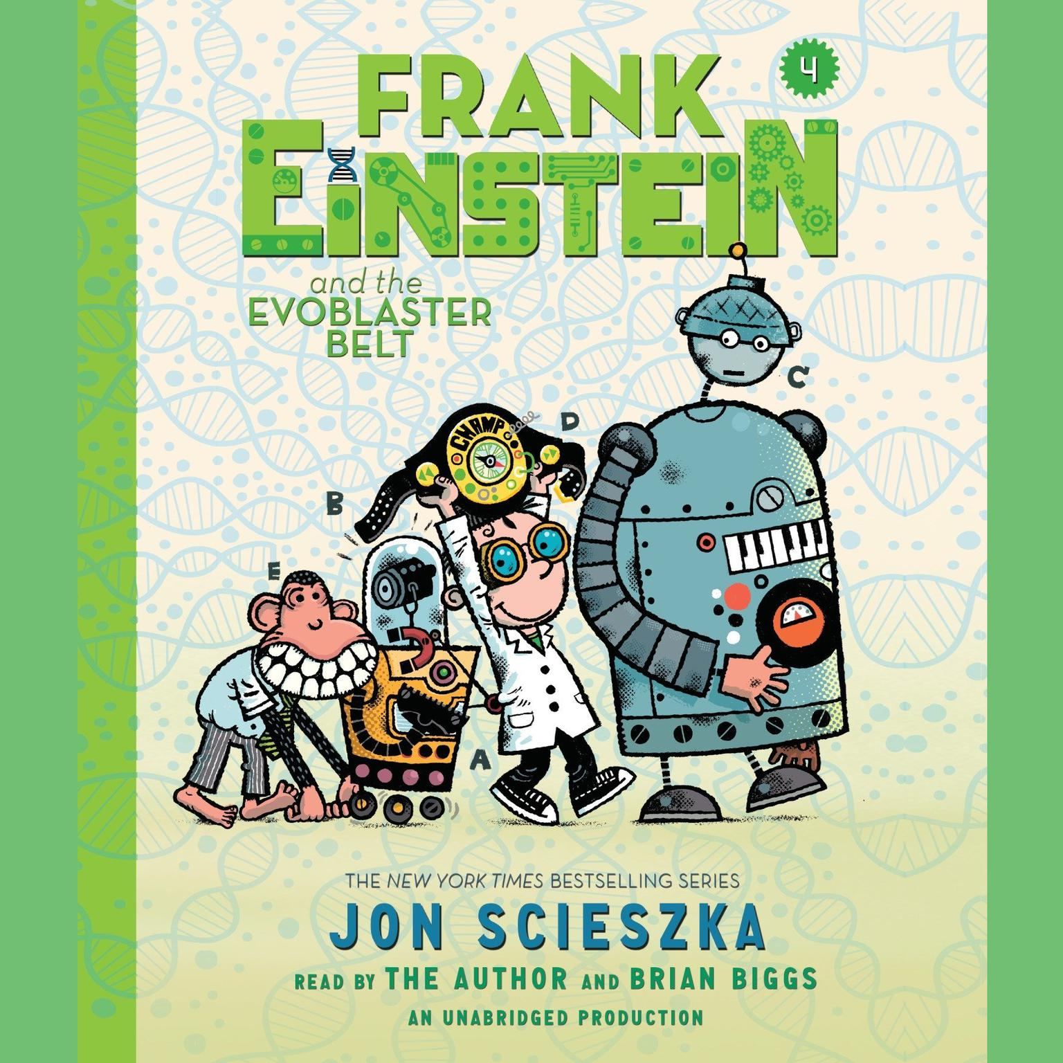 Printable Frank Einstein and the EvoBlaster Belt Audiobook Cover Art