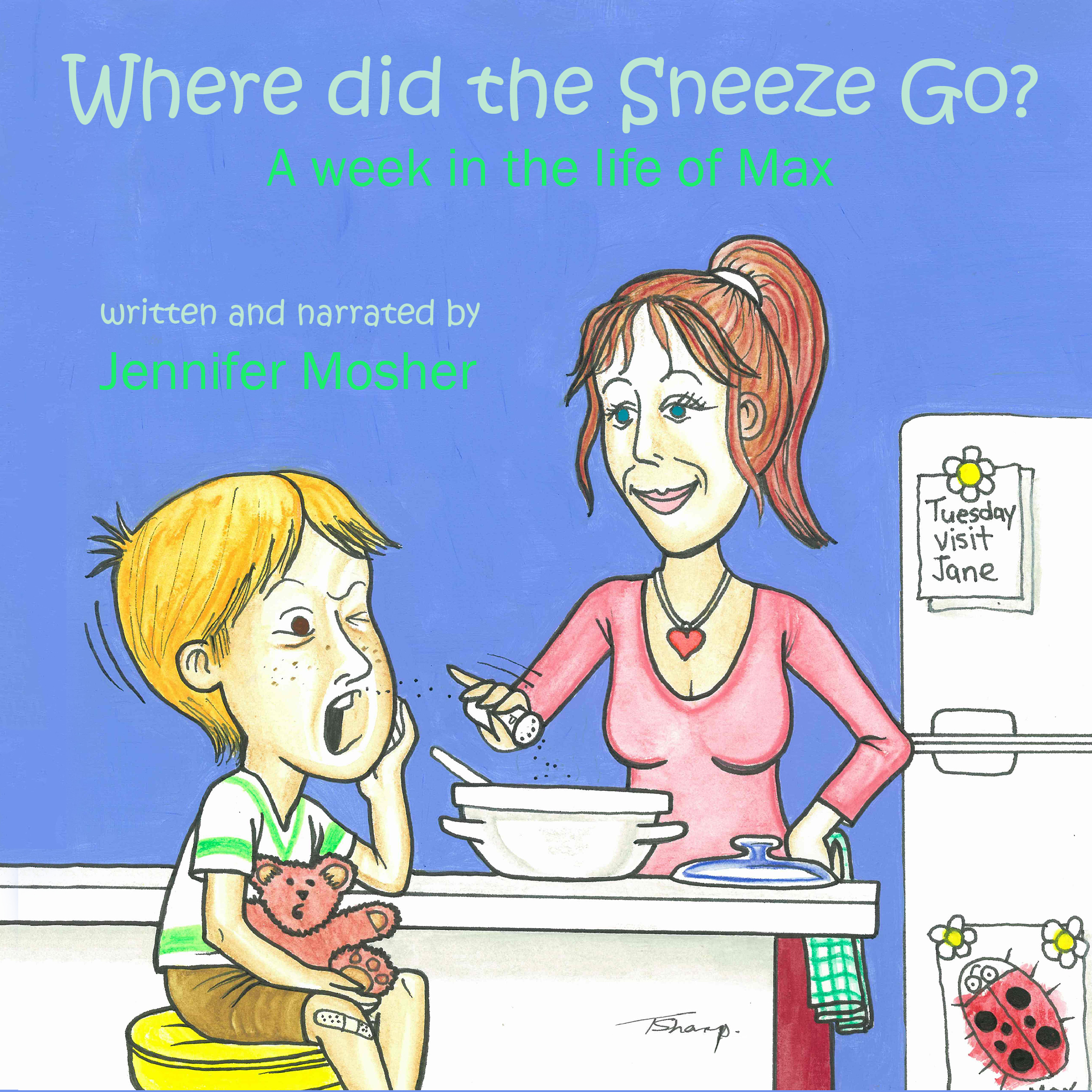 Printable Where Did the Sneeze Go? Audiobook Cover Art