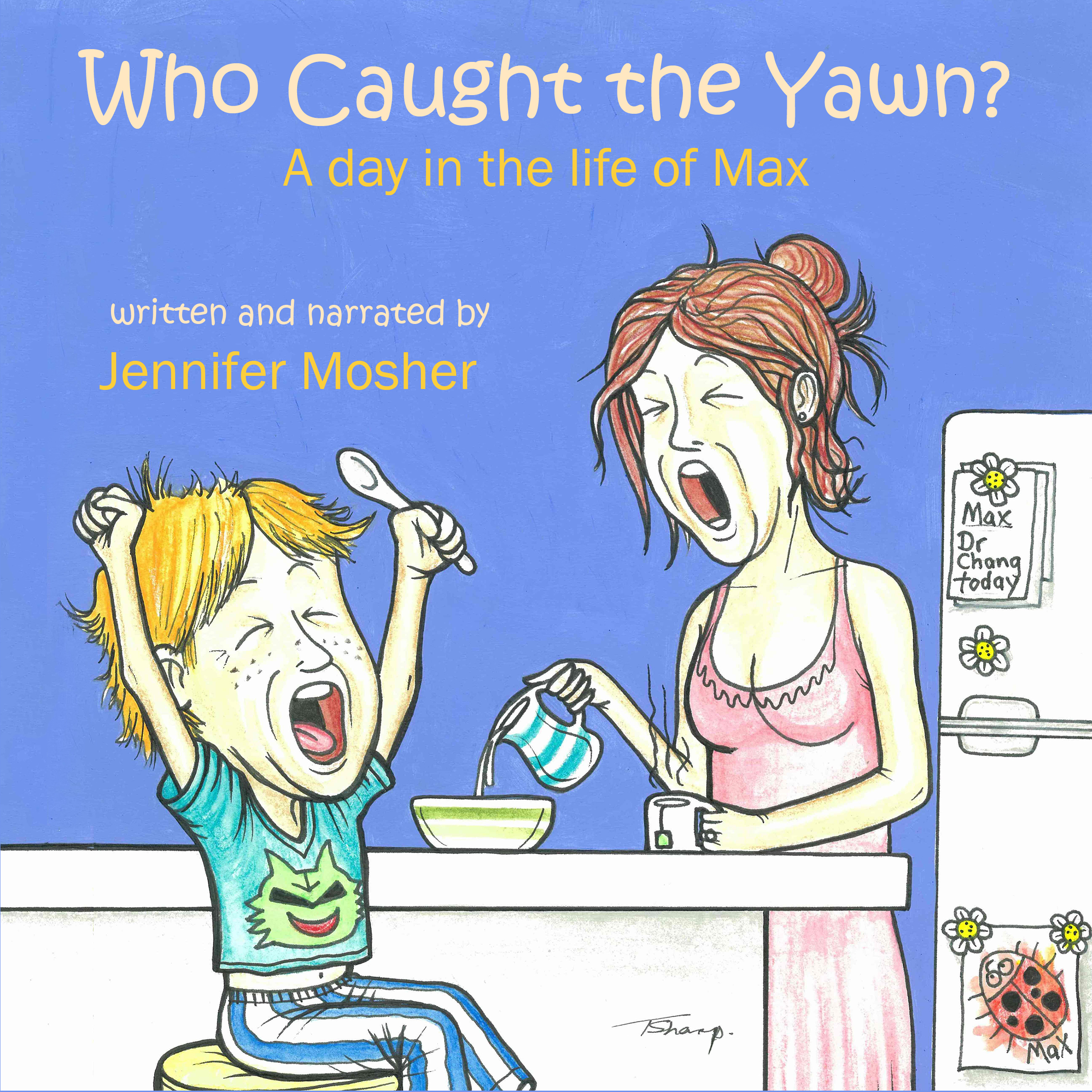 Printable Who Caught the Yawn? Audiobook Cover Art