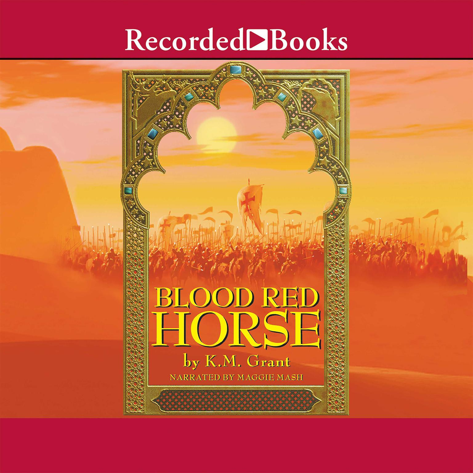Printable Blood Red Horse Audiobook Cover Art