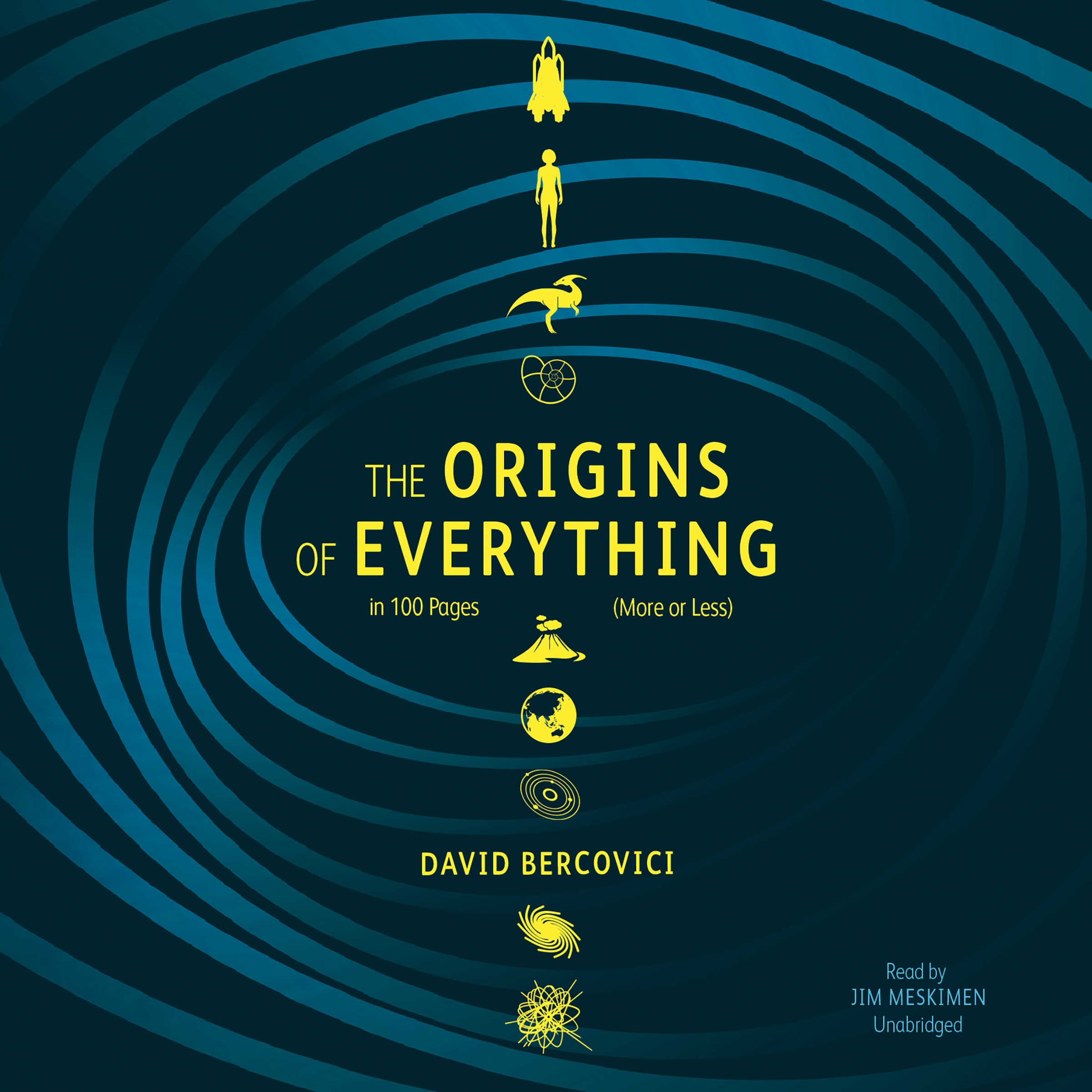 Printable The Origins of Everything in 100 Pages (More or Less) Audiobook Cover Art