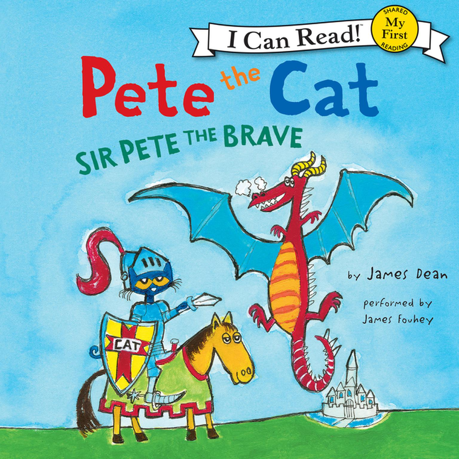 Printable Pete the Cat: Sir Pete the Brave Audiobook Cover Art
