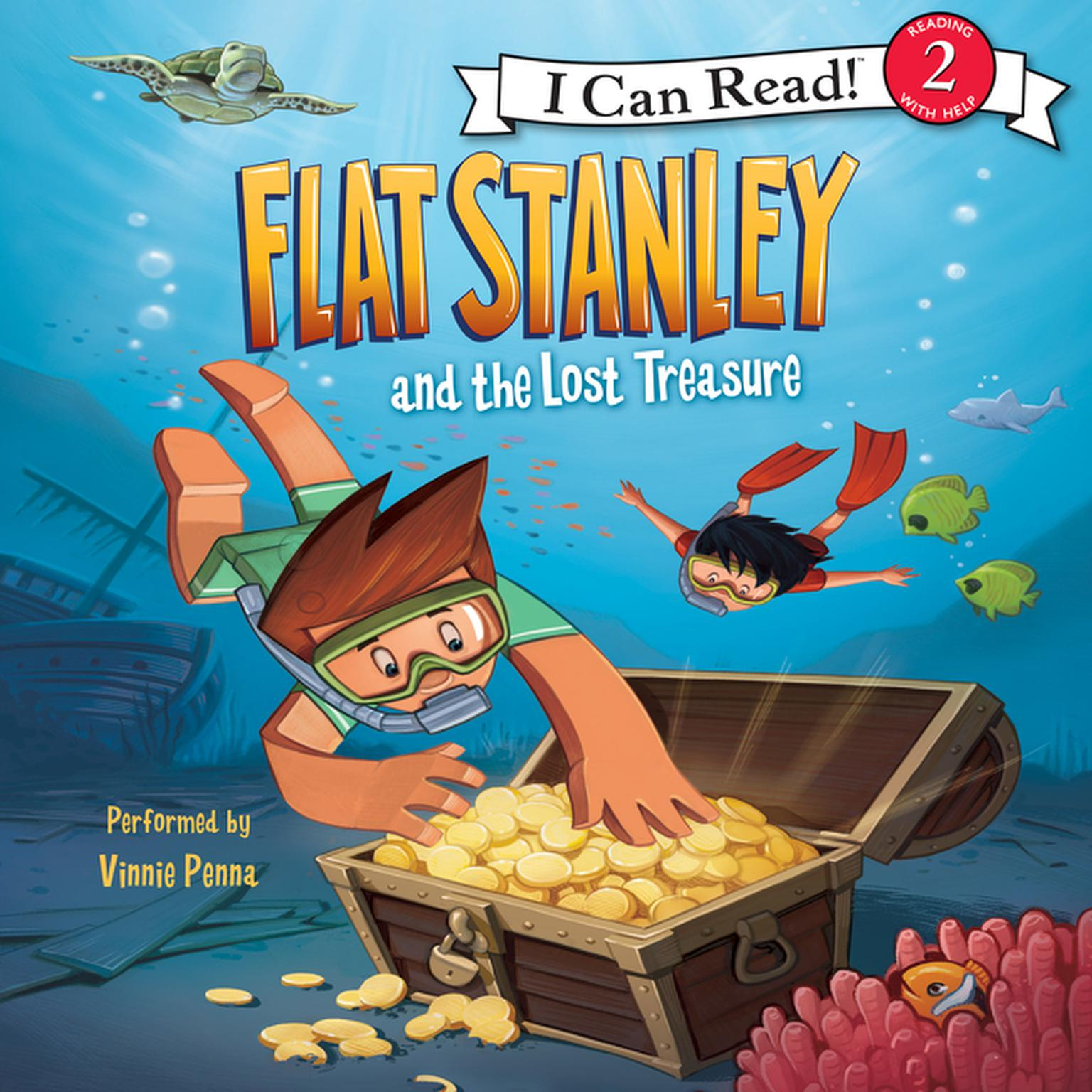 Printable Flat Stanley and the Lost Treasure Audiobook Cover Art