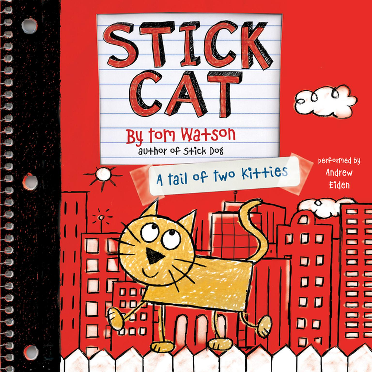 Printable Stick Cat: A Tail of Two Kitties Audiobook Cover Art