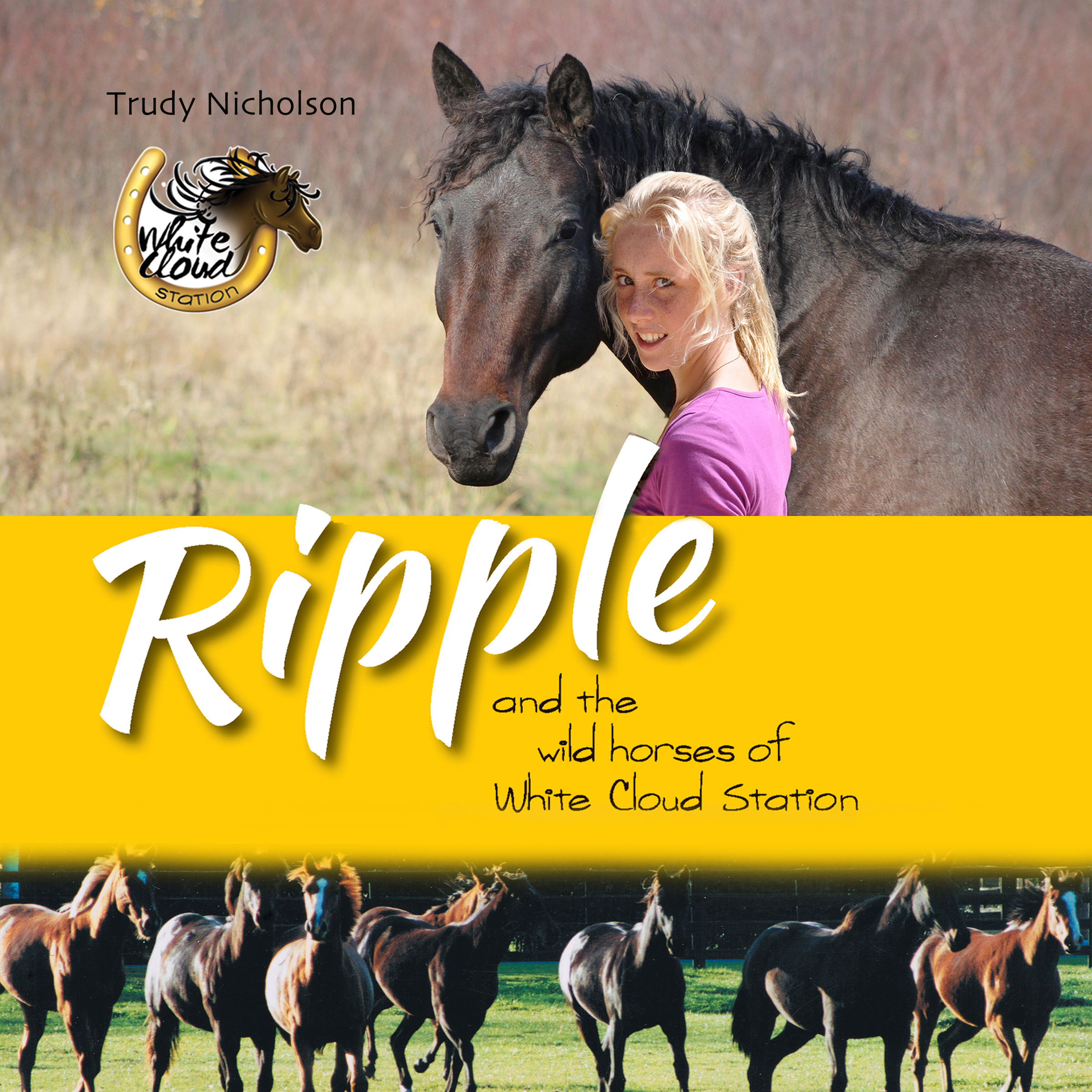 Printable Ripple and the Wild Horses of White Cloud Station Audiobook Cover Art