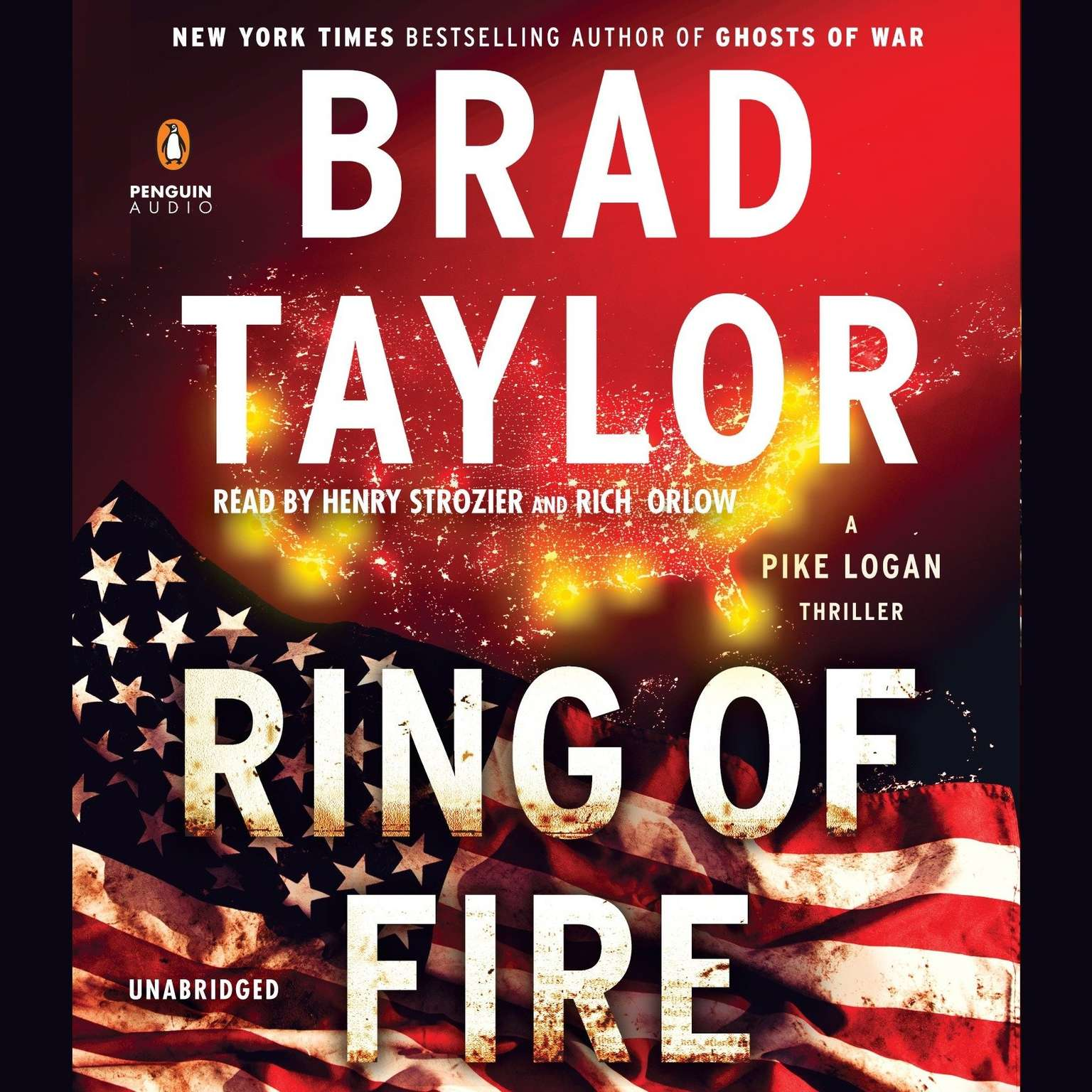 Printable Ring of Fire: A Pike Logan Thriller Audiobook Cover Art