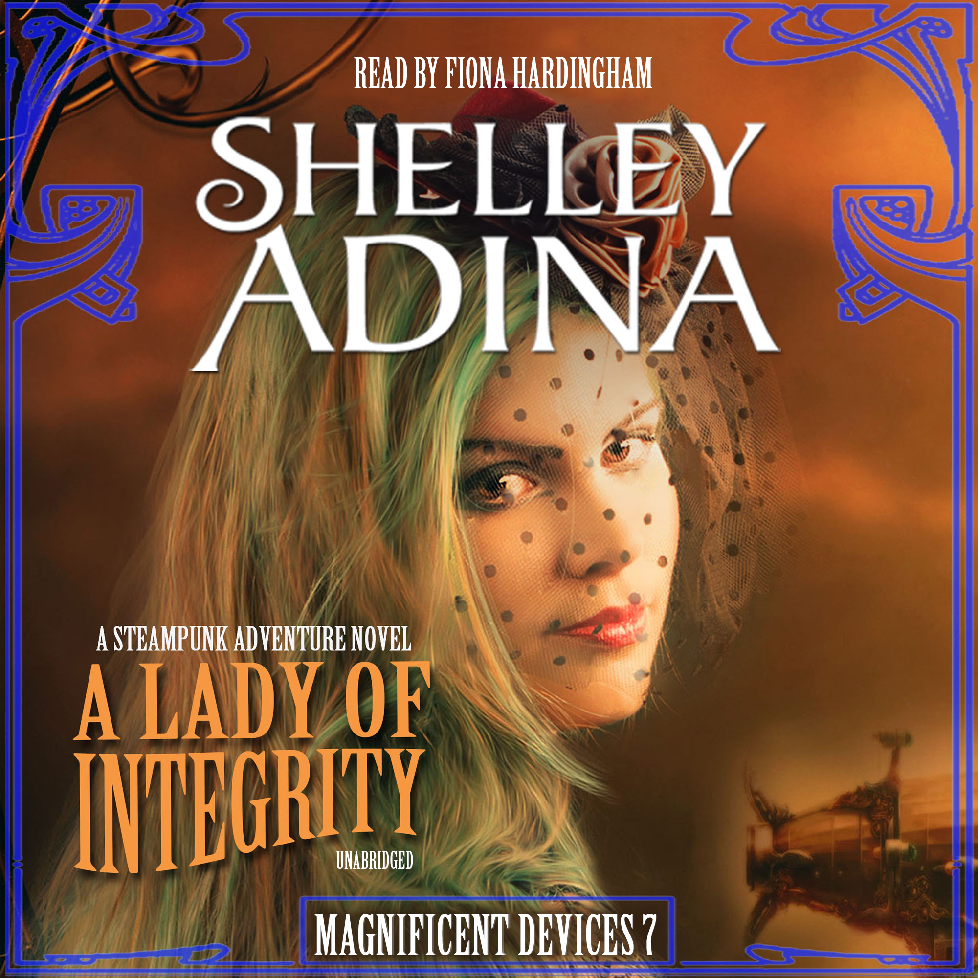 Printable A Lady of Integrity: A Steampunk Adventure Novel Audiobook Cover Art