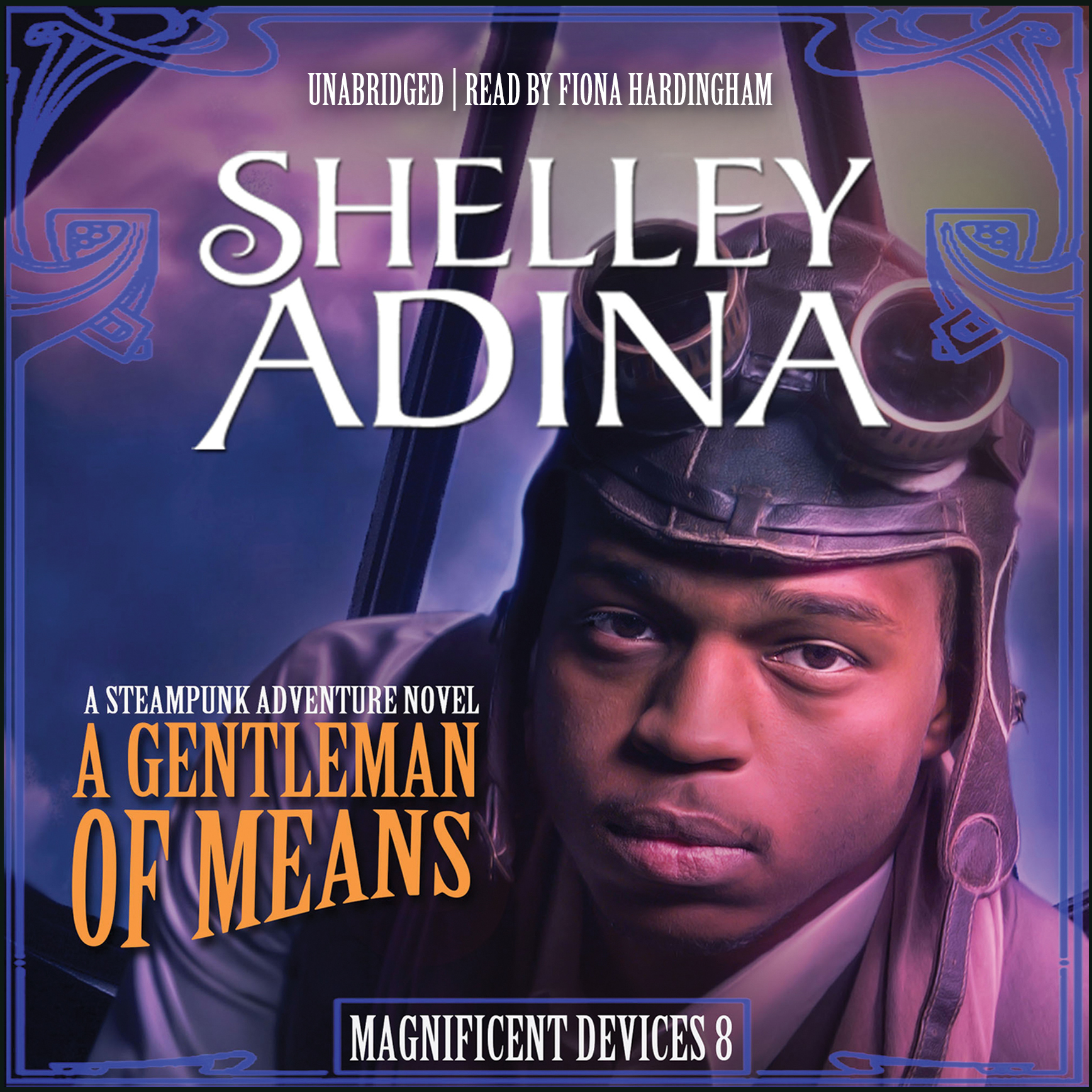 Printable A Gentleman of Means: A Steampunk Adventure Novel Audiobook Cover Art