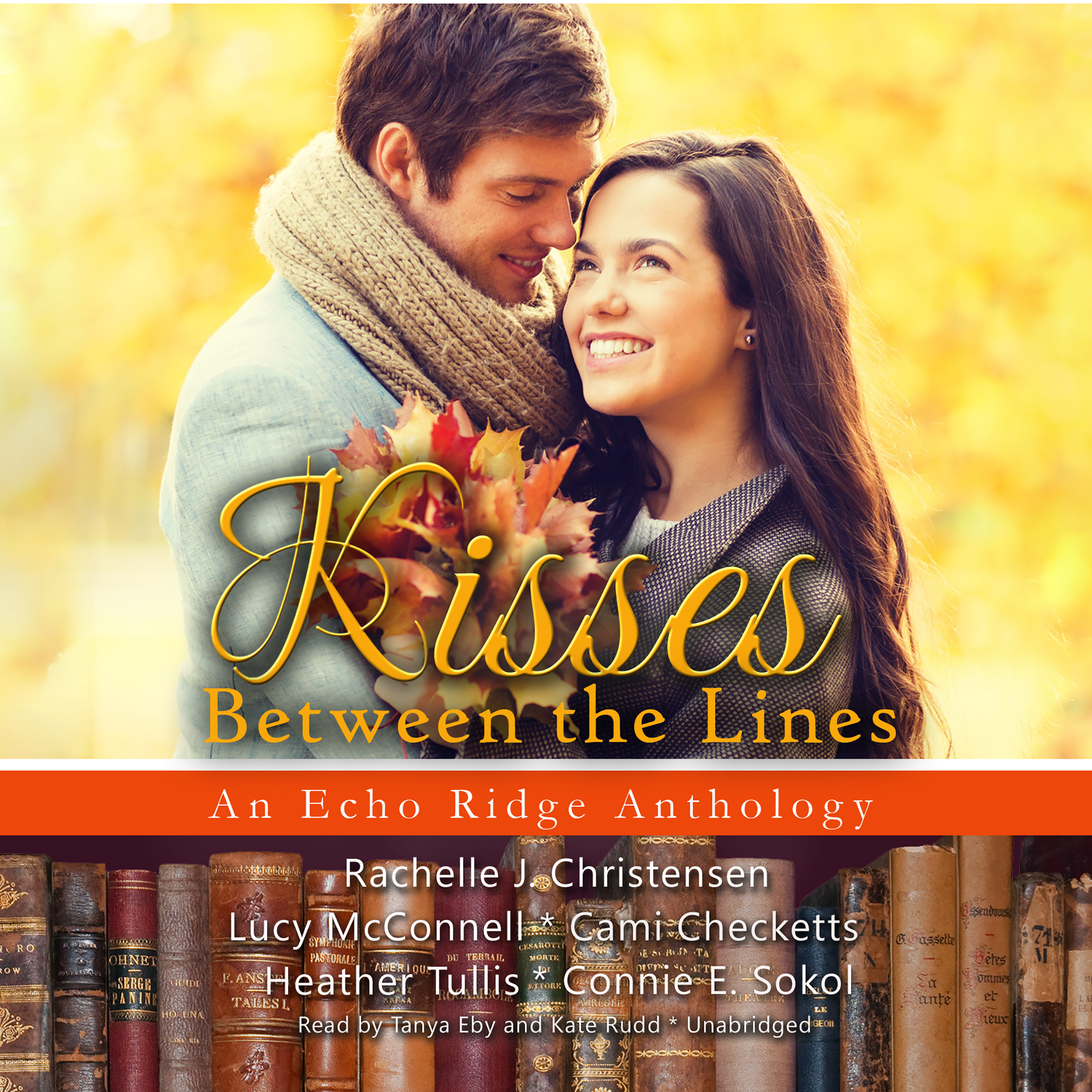 Printable Kisses between the Lines: An Echo Ridge Anthology Audiobook Cover Art