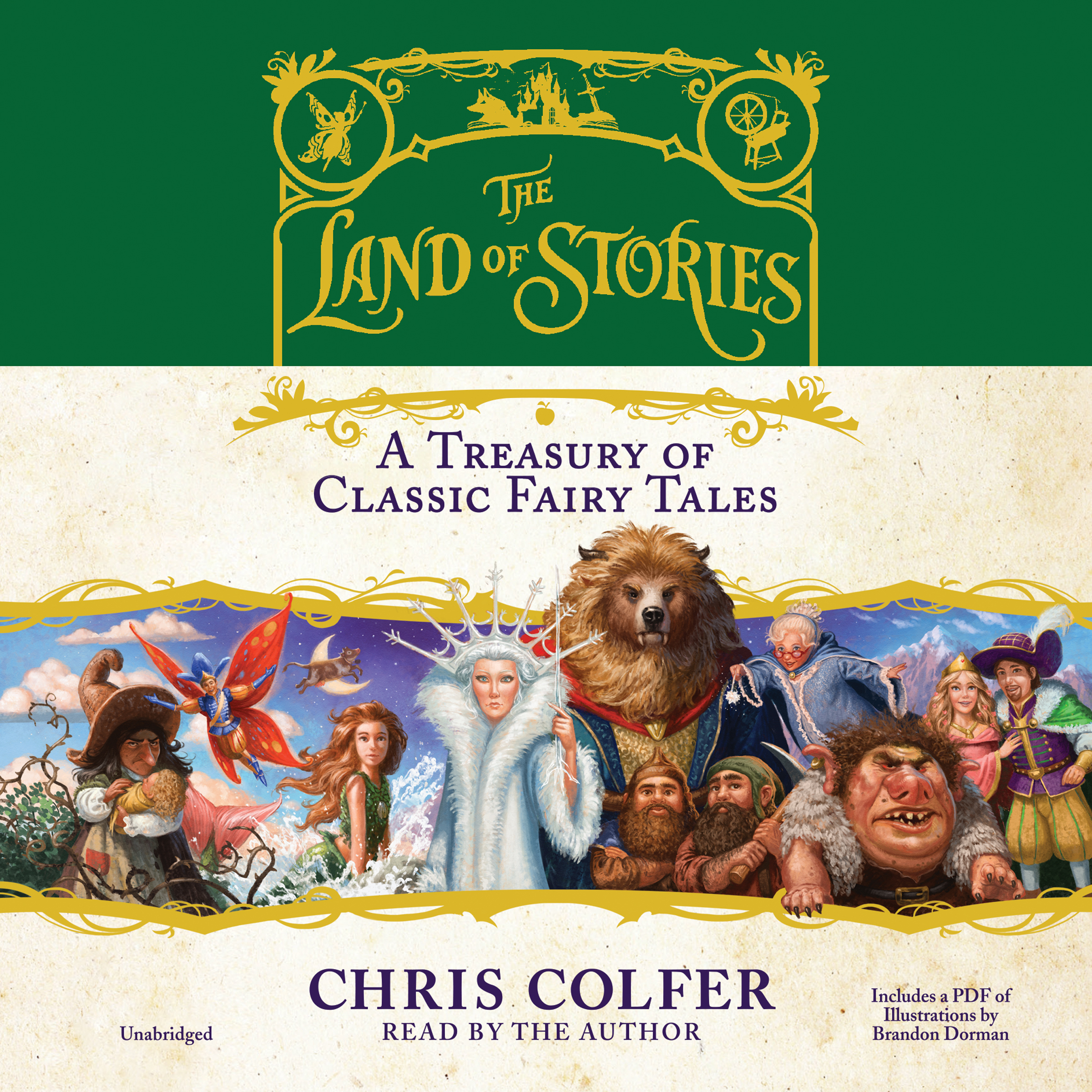 Printable The Land of Stories: A Treasury of Classic Fairy Tales: A Treasury of Classic Fairy Tales Audiobook Cover Art