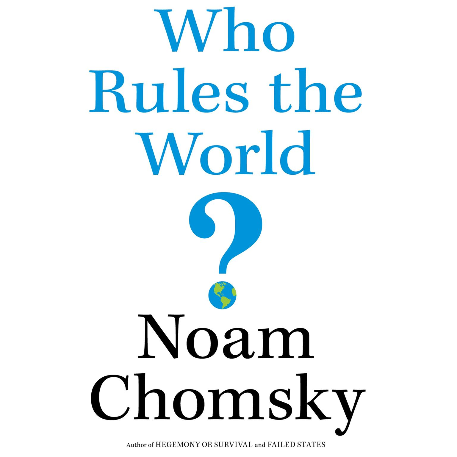 Printable Who Rules the World? Audiobook Cover Art