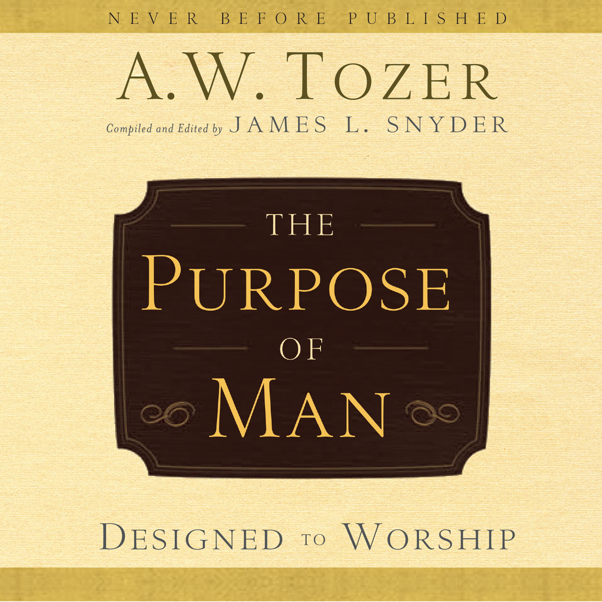 Printable The Purpose of Man: Designed to Worship Audiobook Cover Art
