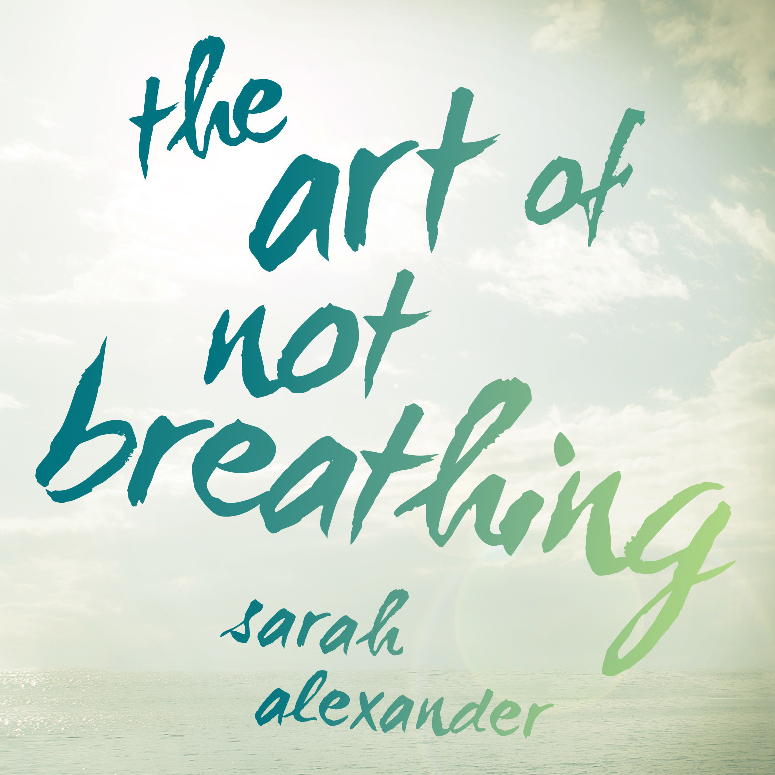 Printable The Art of Not Breathing Audiobook Cover Art