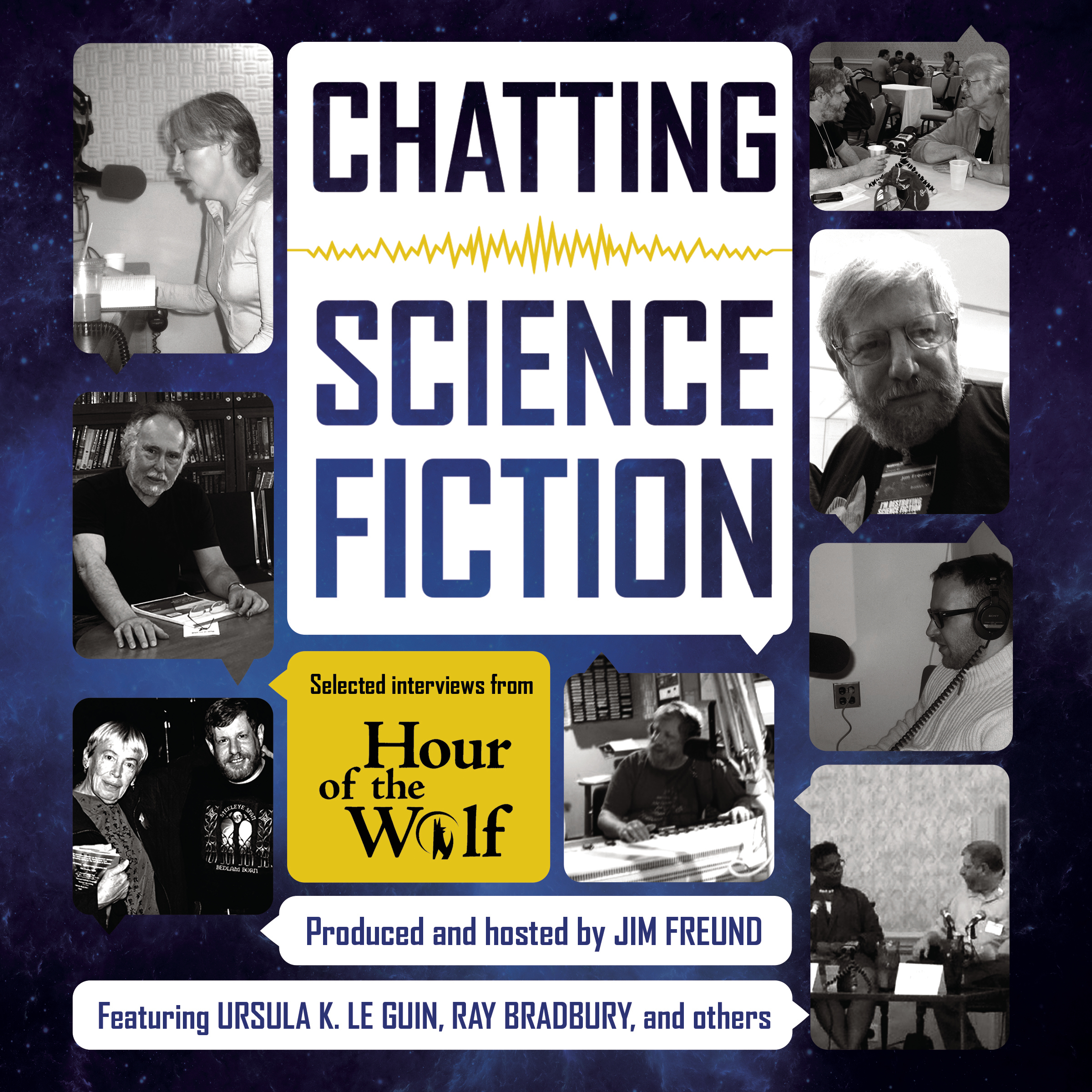 Printable Chatting Science Fiction: Selected Interviews from Hour of the Wolf Audiobook Cover Art