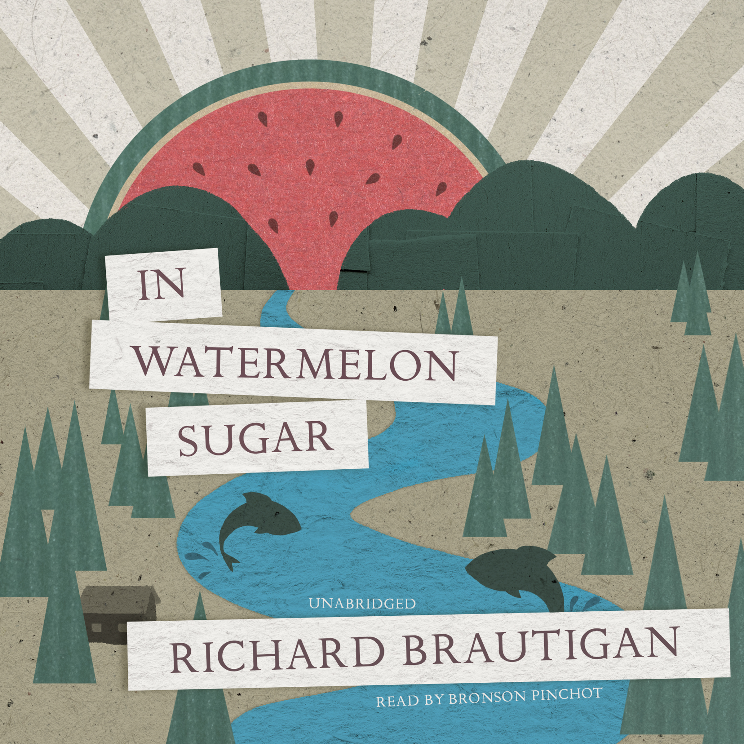 Printable In Watermelon Sugar Audiobook Cover Art