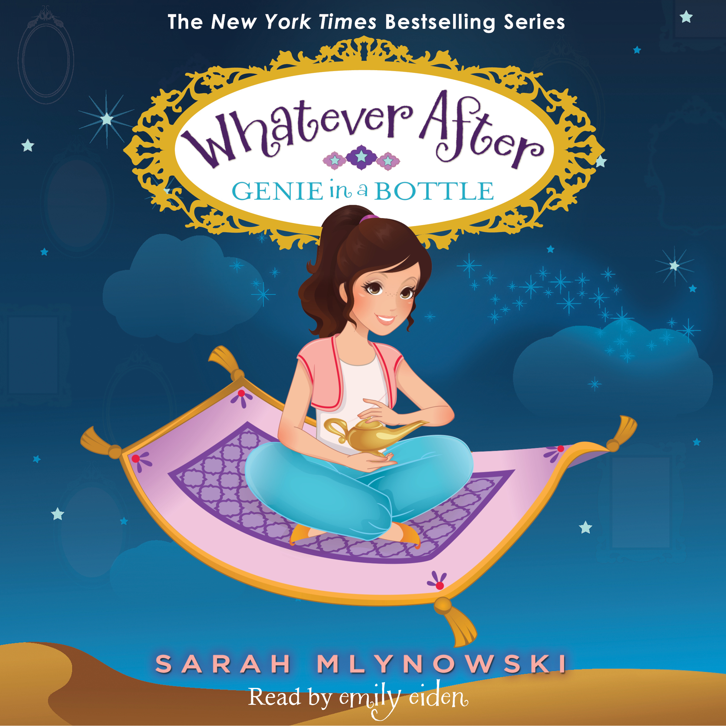 Printable Genie in a Bottle: Whatever After #9 Audiobook Cover Art