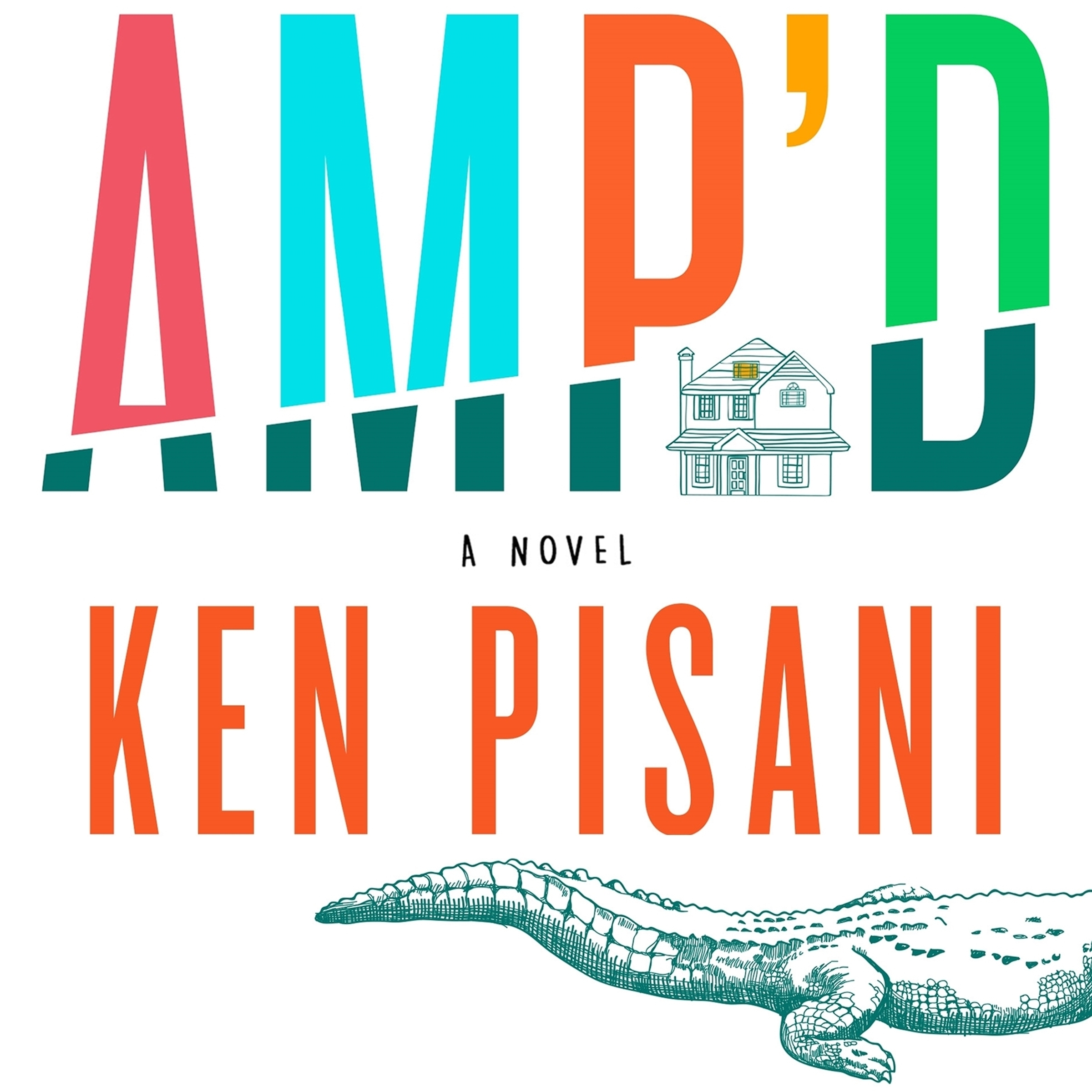 Printable Amp'd: A Novel Audiobook Cover Art
