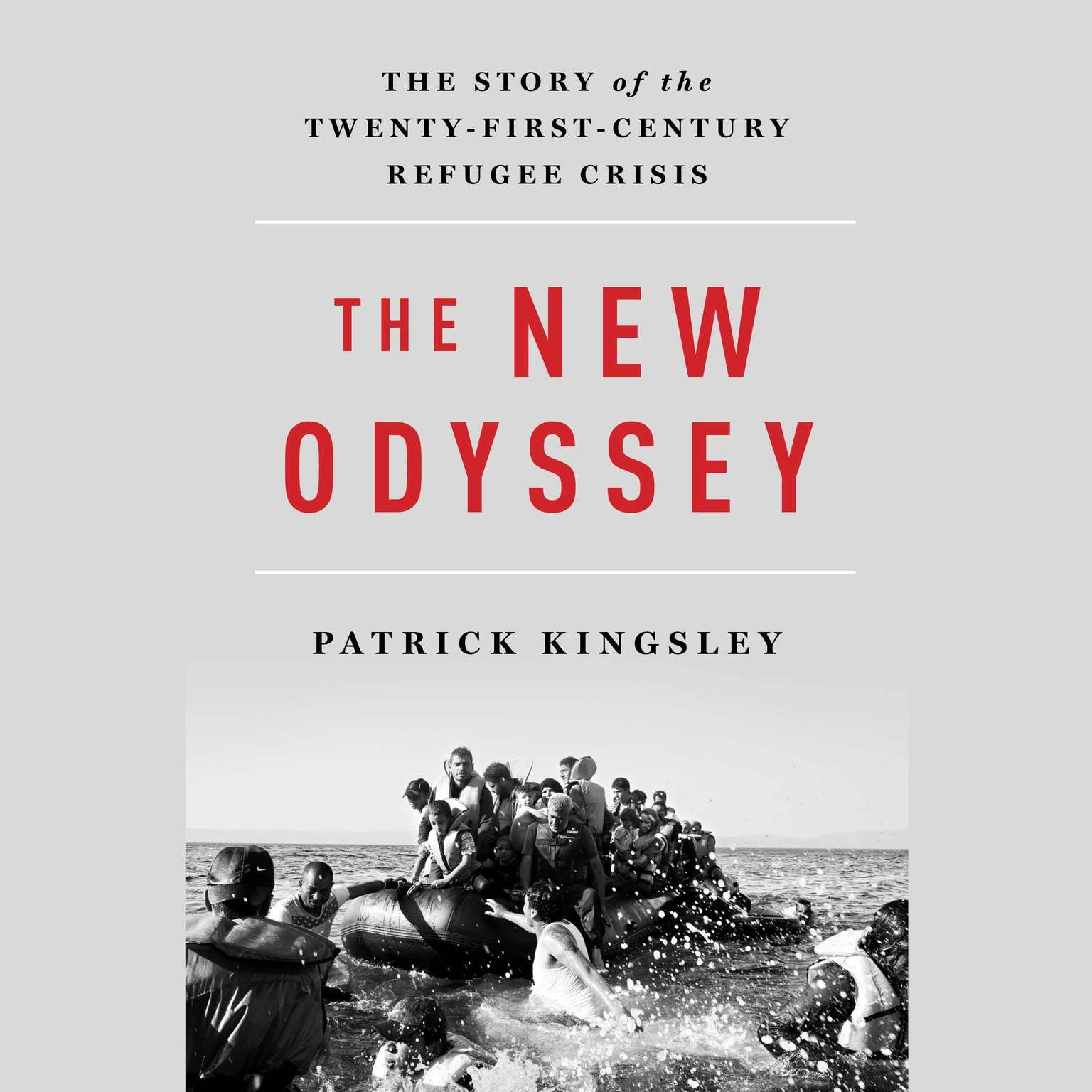 Printable The New Odyssey: The Story of Europe's Refugee Crisis Audiobook Cover Art