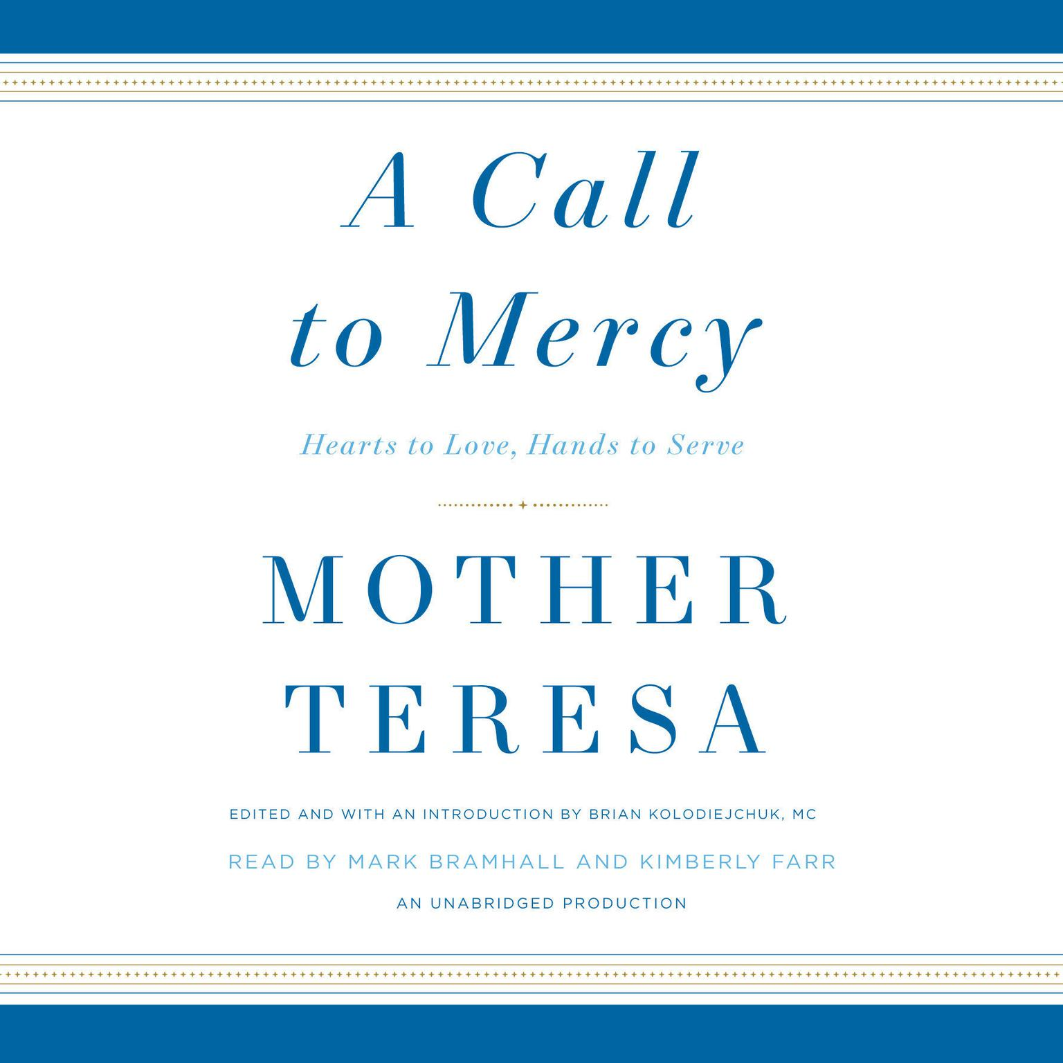 Printable A Call to Mercy: Hearts to Love, Hands to Serve Audiobook Cover Art