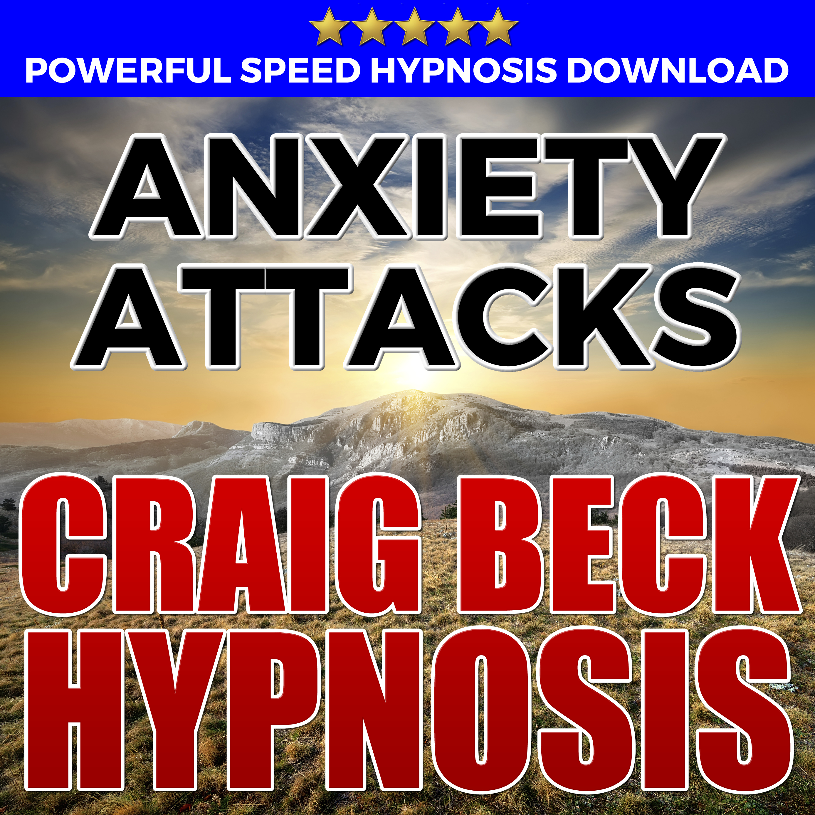 Printable Anxiety Attacks: Hypnosis Downloads Audiobook Cover Art