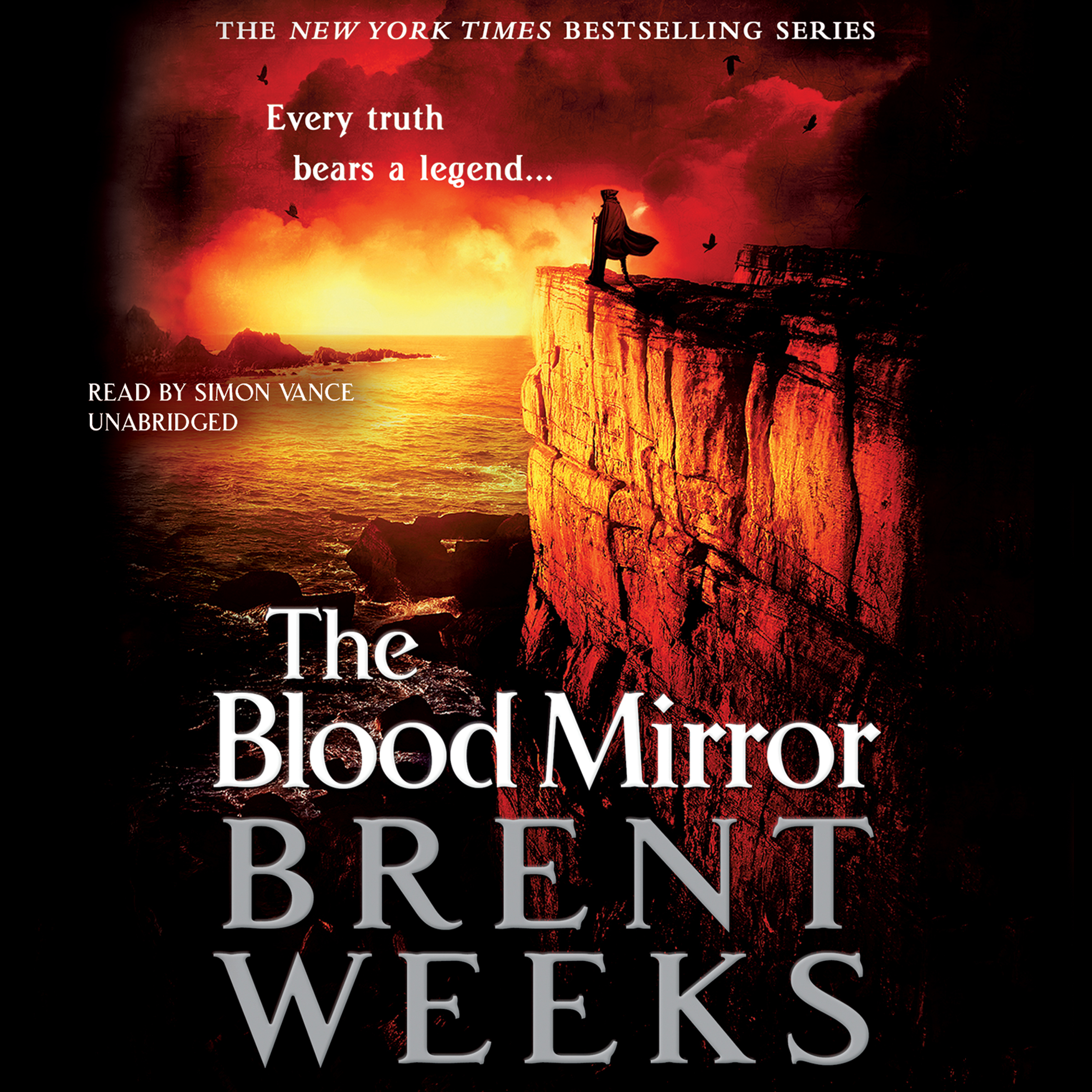 Printable The Blood Mirror Audiobook Cover Art