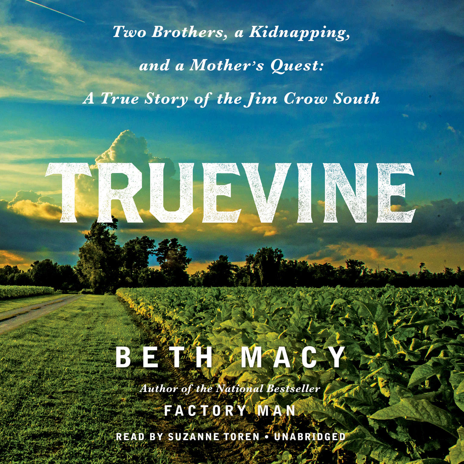 Printable Truevine: Two Brothers, a Kidnapping, and a Mother's Quest: A True Story of the Jim Crow South Audiobook Cover Art
