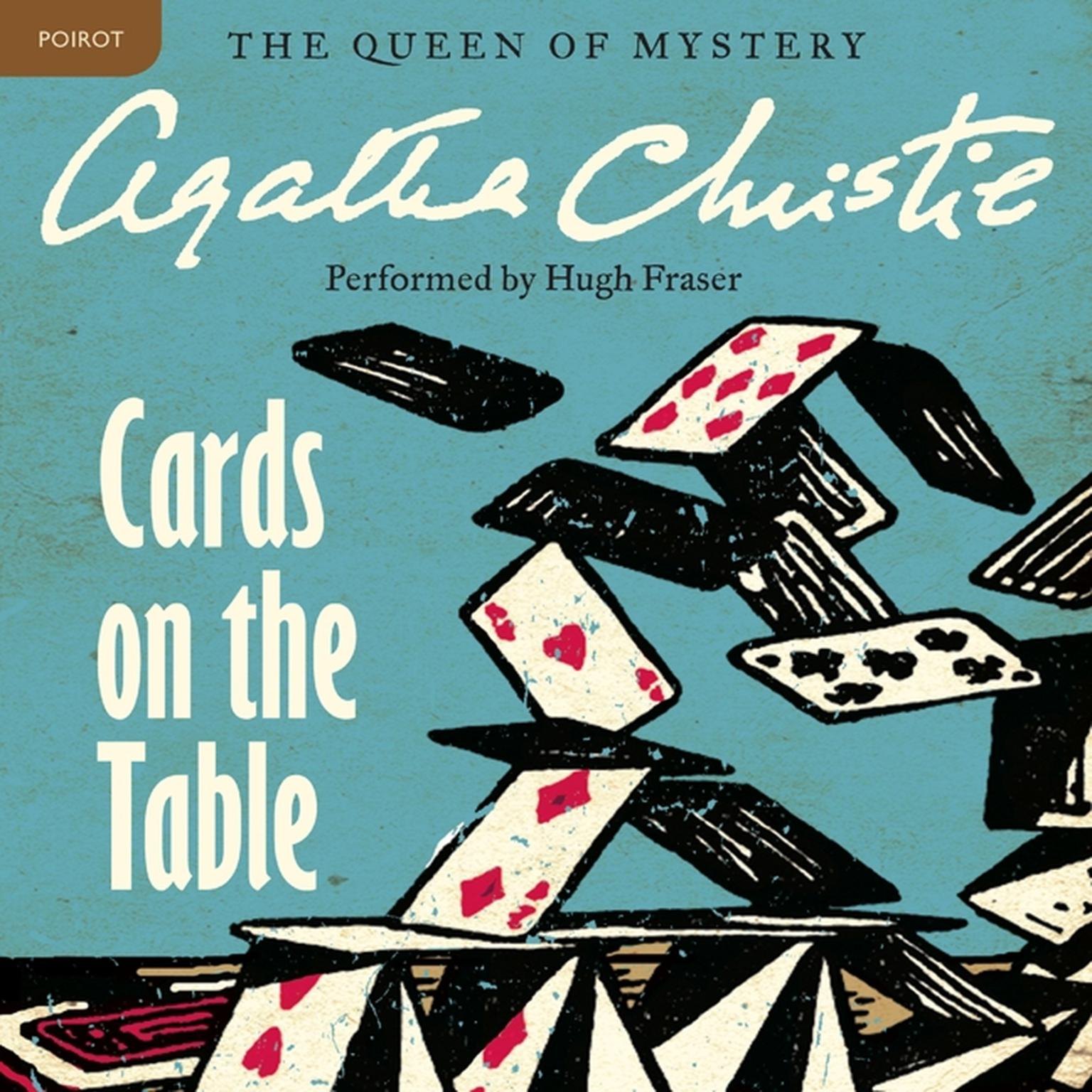 Printable Cards on the Table: A Hercule Poirot Mystery Audiobook Cover Art