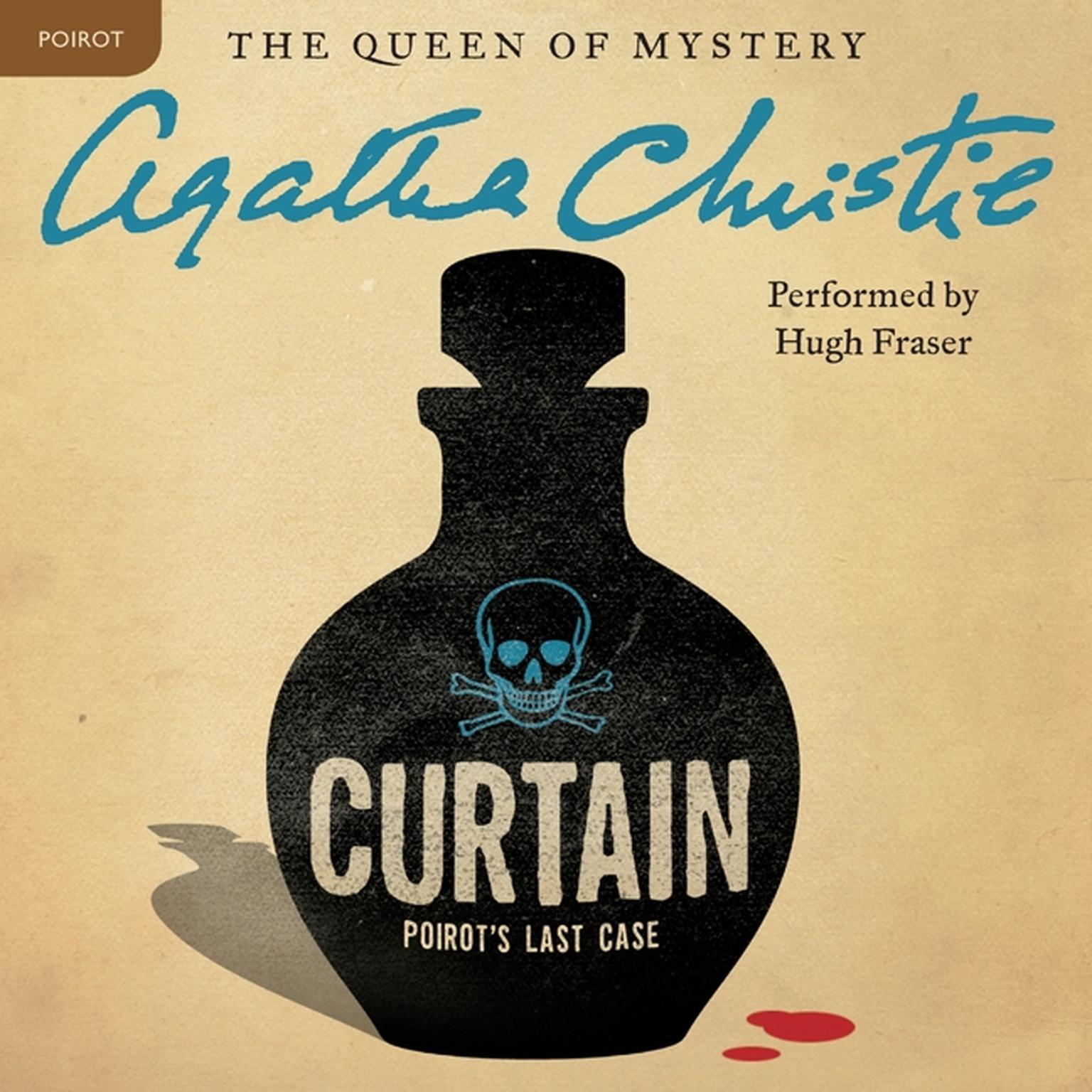 Printable Curtain: Poirot's Last Case: A Hercule Poirot Mystery Audiobook Cover Art