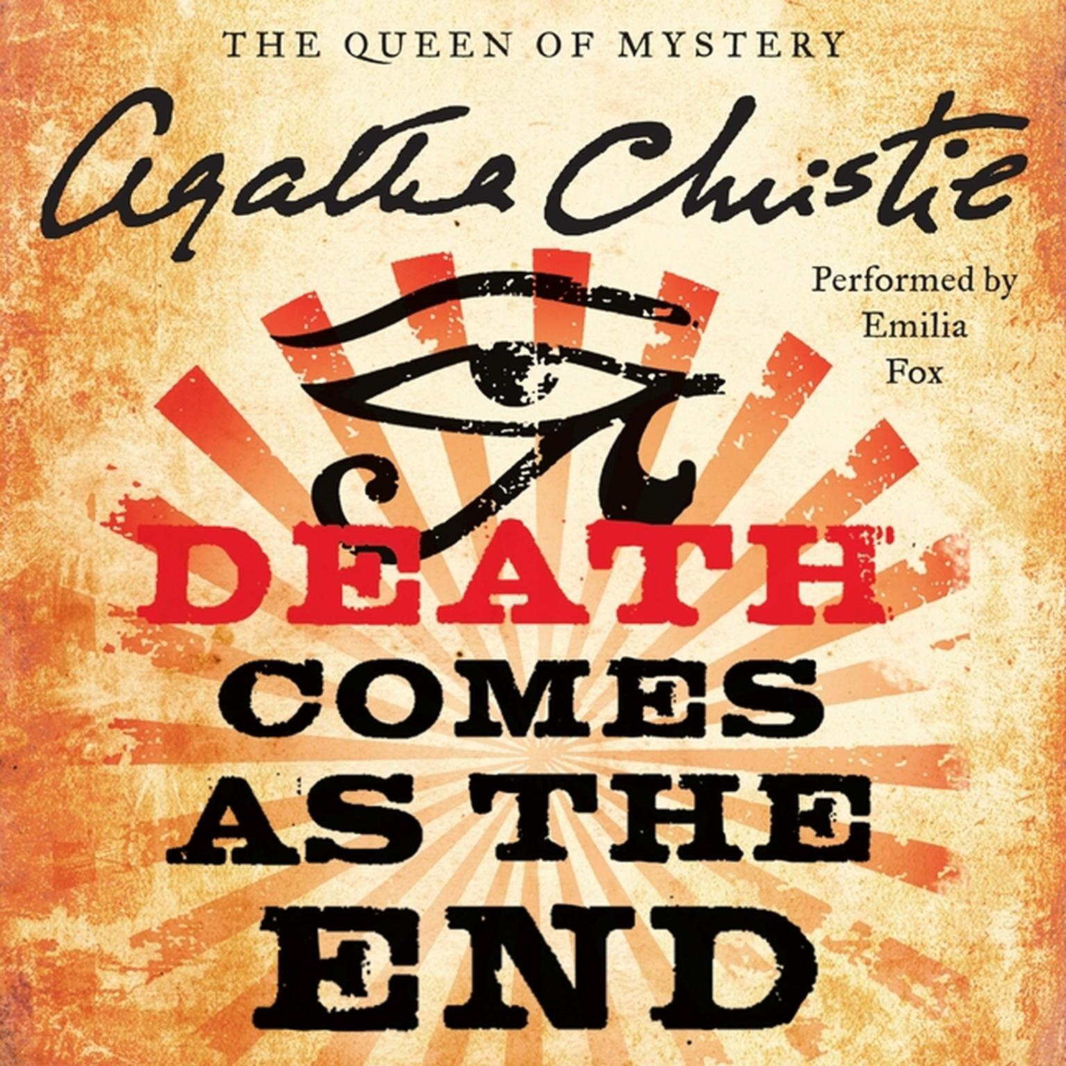 Printable Death Comes as the End Audiobook Cover Art