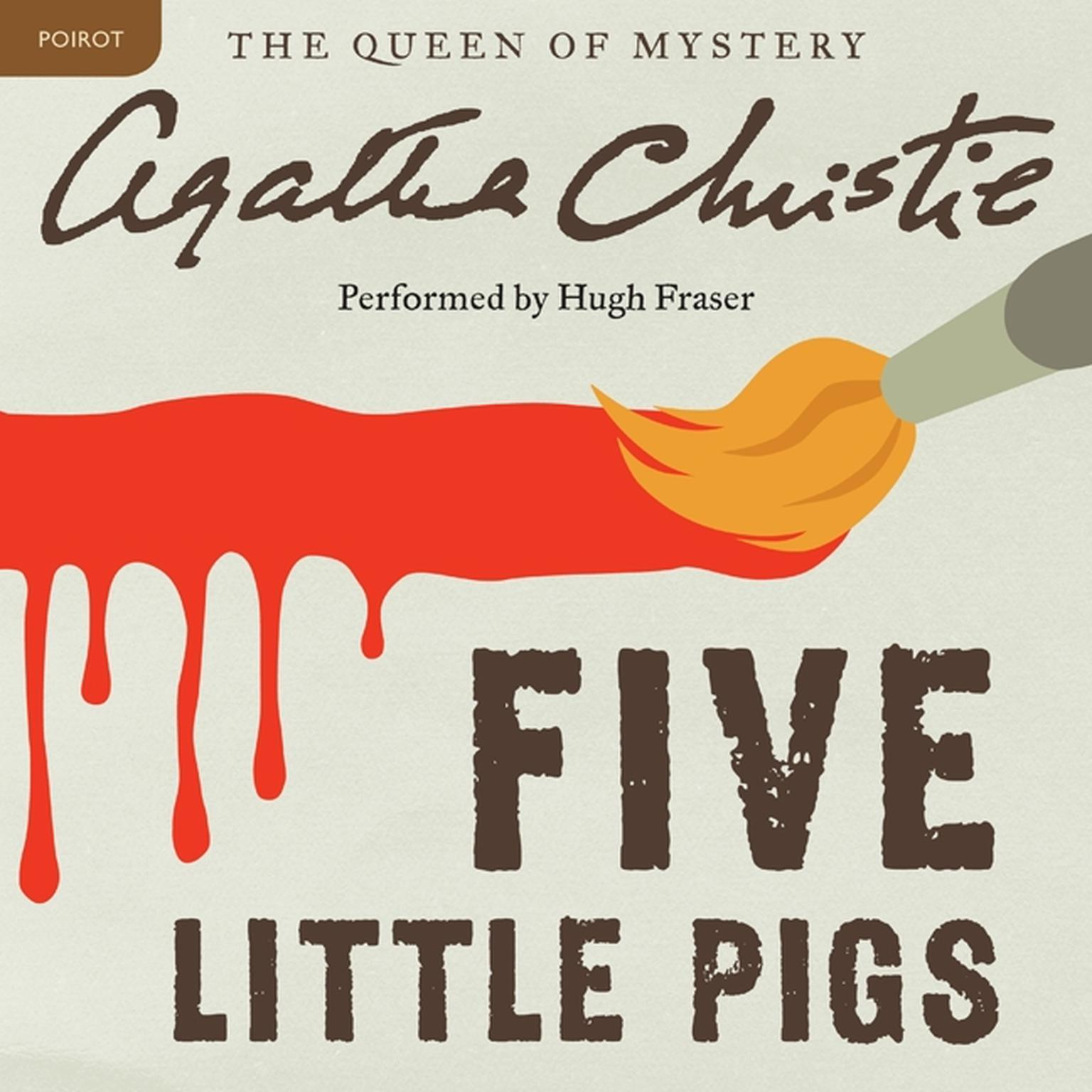 Printable Five Little Pigs: A Hercule Poirot Mystery Audiobook Cover Art