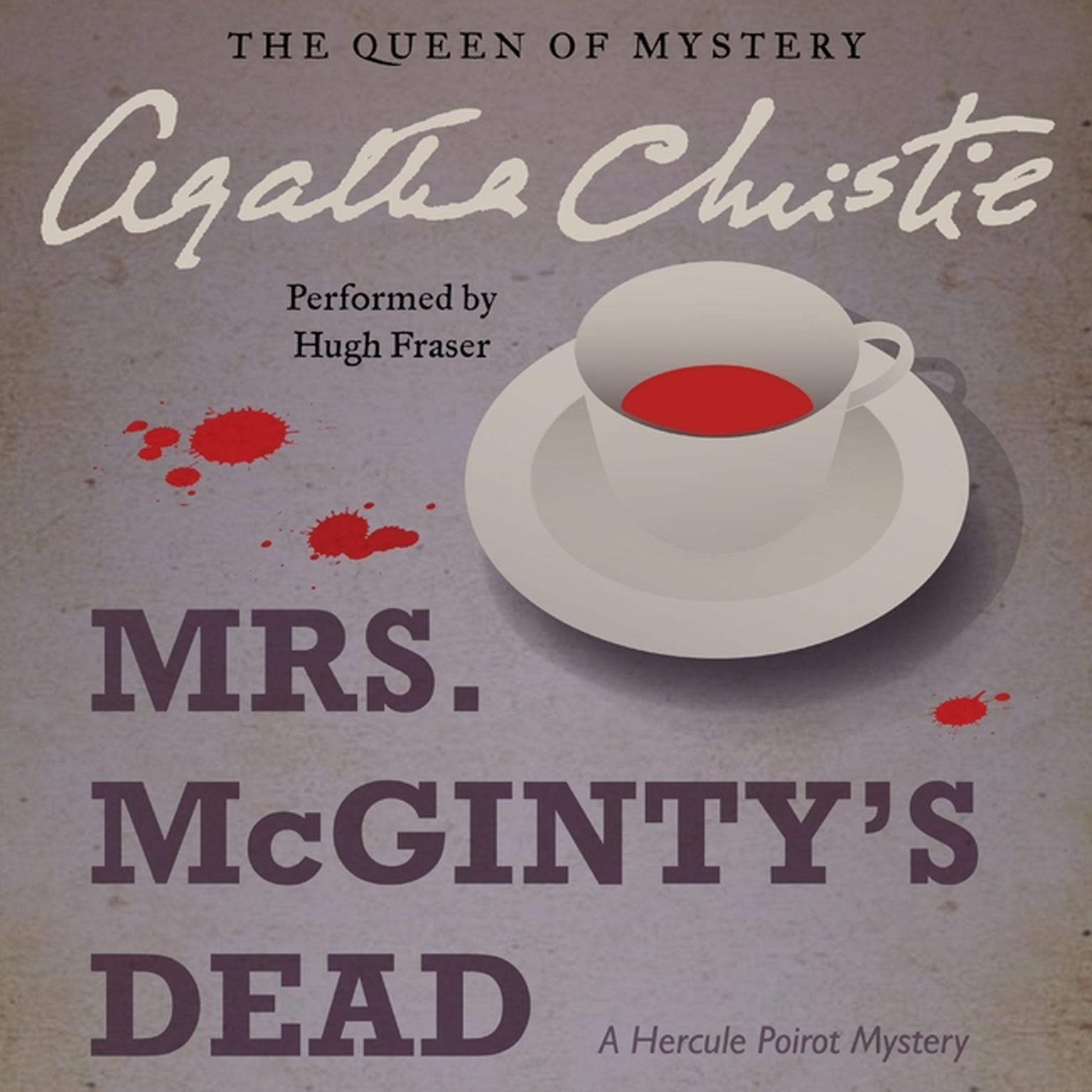 Printable Mrs. McGinty's Dead: A Hercule Poirot Mystery Audiobook Cover Art