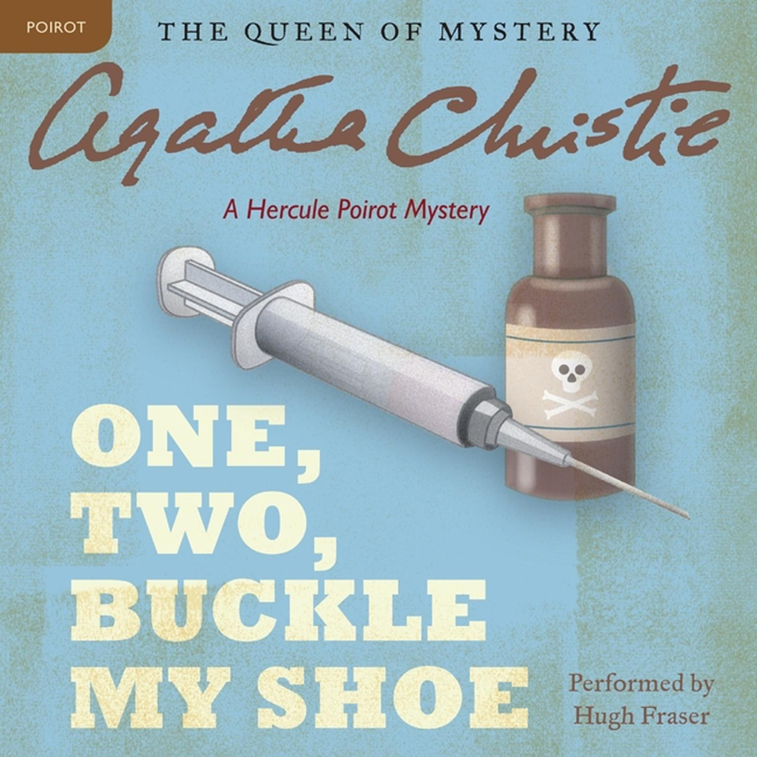 Printable One, Two, Buckle My Shoe: A Hercule Poirot Mystery Audiobook Cover Art