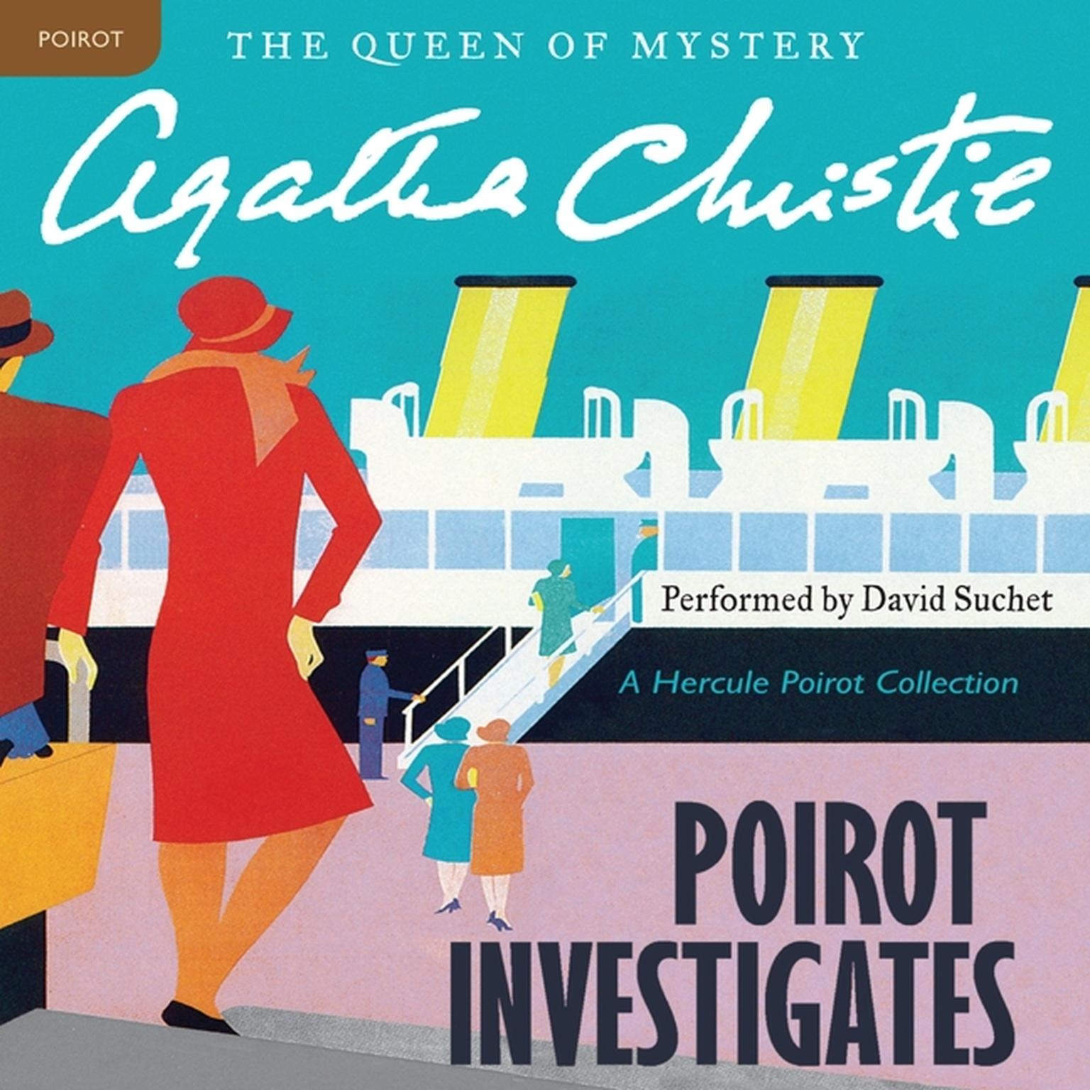 Printable Poirot Investigates: A Hercule Poirot Collection Audiobook Cover Art