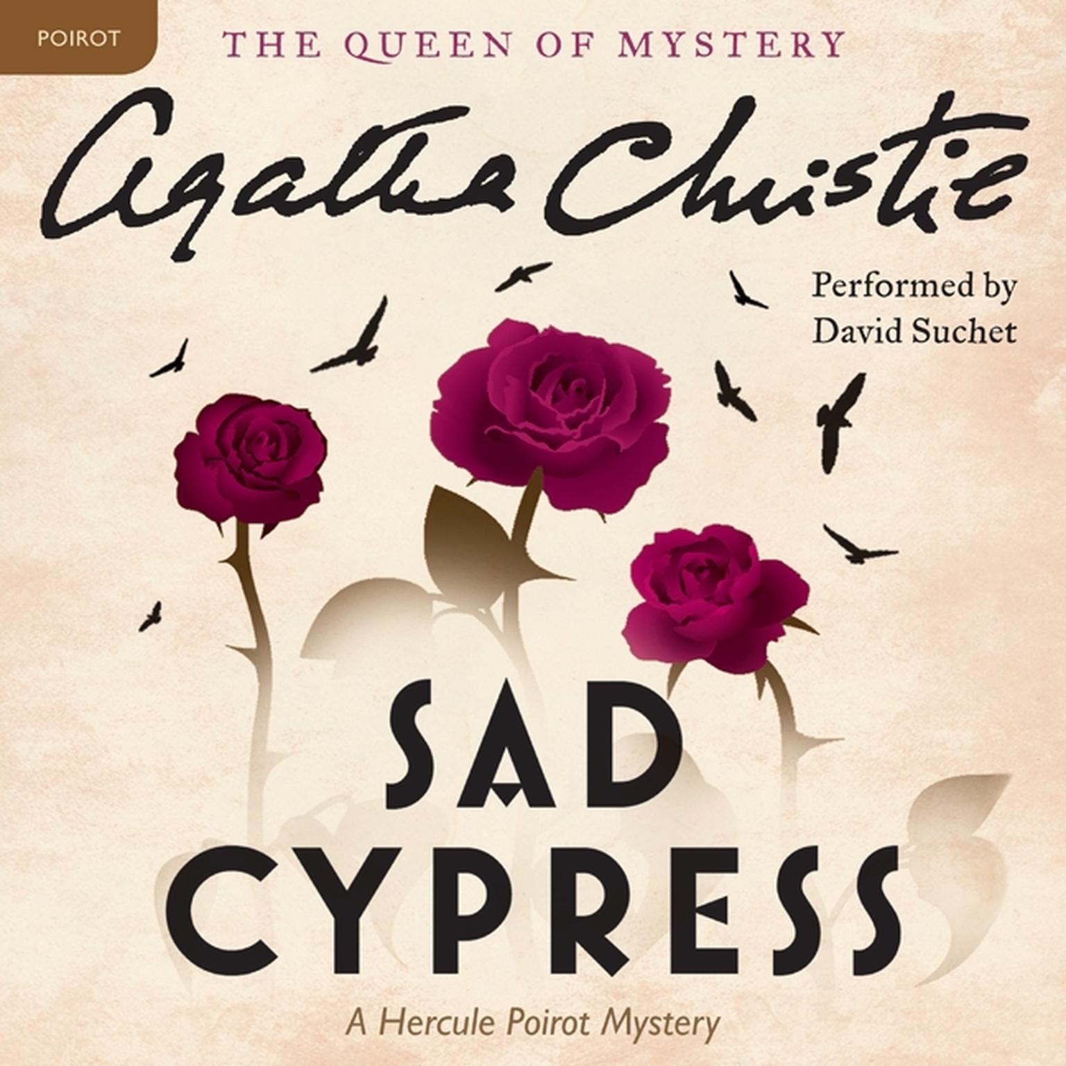 Printable Sad Cypress: A Hercule Poirot Mystery Audiobook Cover Art