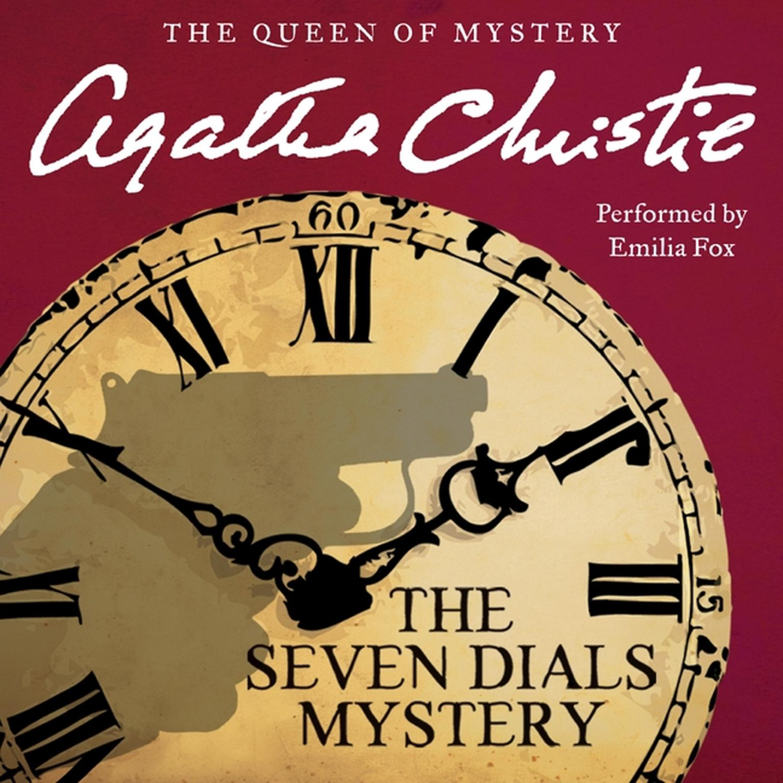 Printable The Seven Dials Mystery Audiobook Cover Art