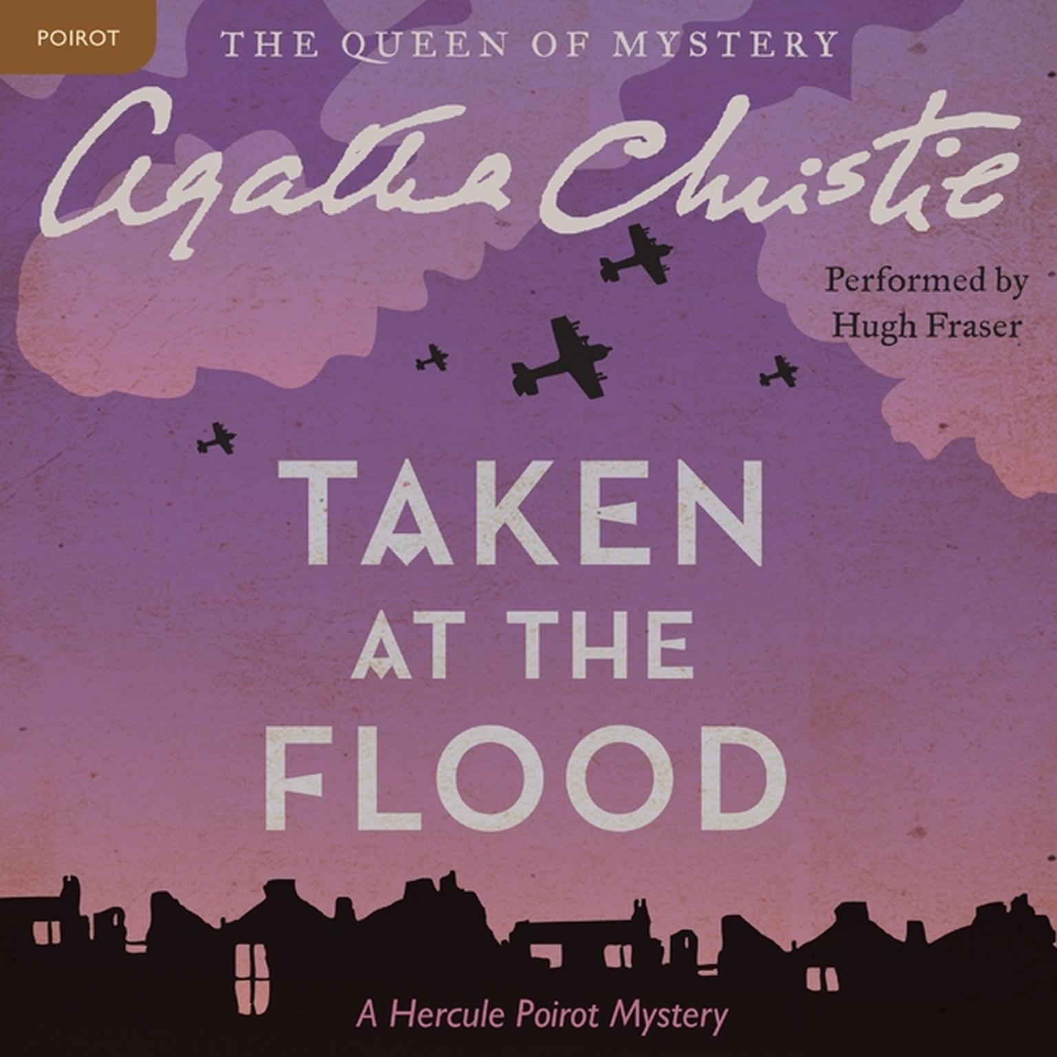 Printable Taken at the Flood: A Hercule Poirot Mystery Audiobook Cover Art
