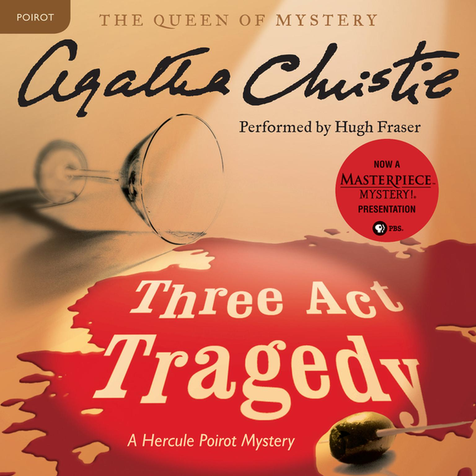 Printable Three Act Tragedy: A Hercule Poirot Mystery Audiobook Cover Art
