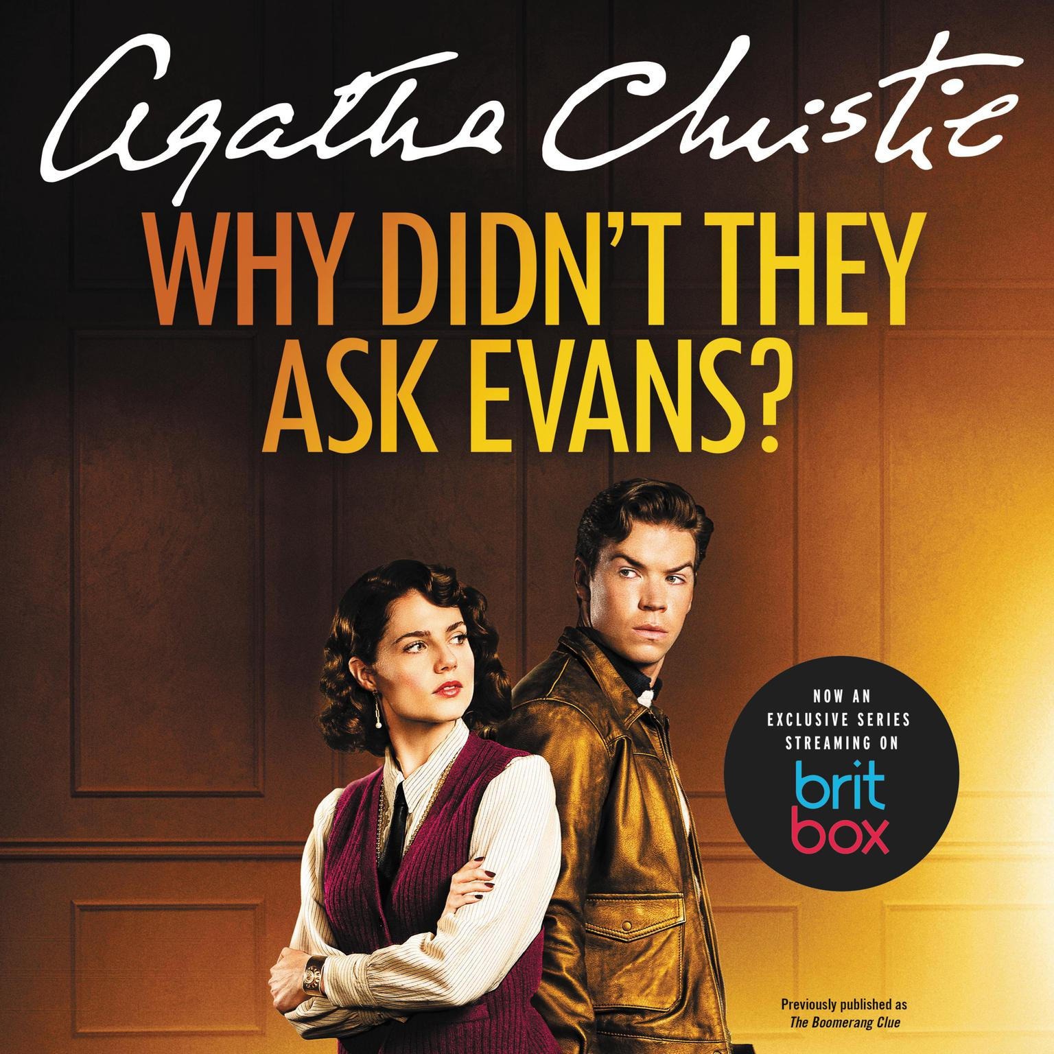 Printable Why Didn't They Ask Evans? Audiobook Cover Art