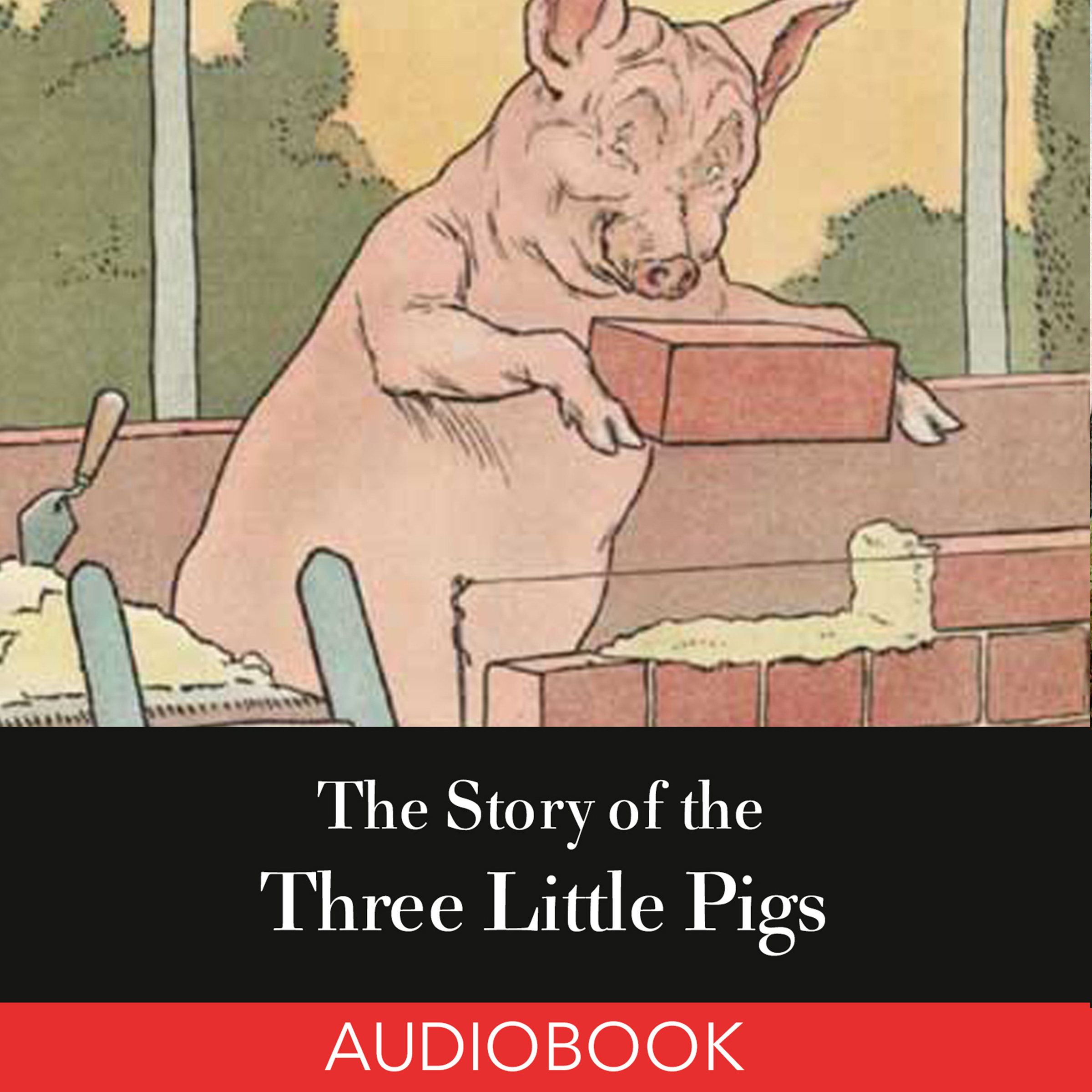 Printable The Story of the Three Little Pigs Audiobook Cover Art