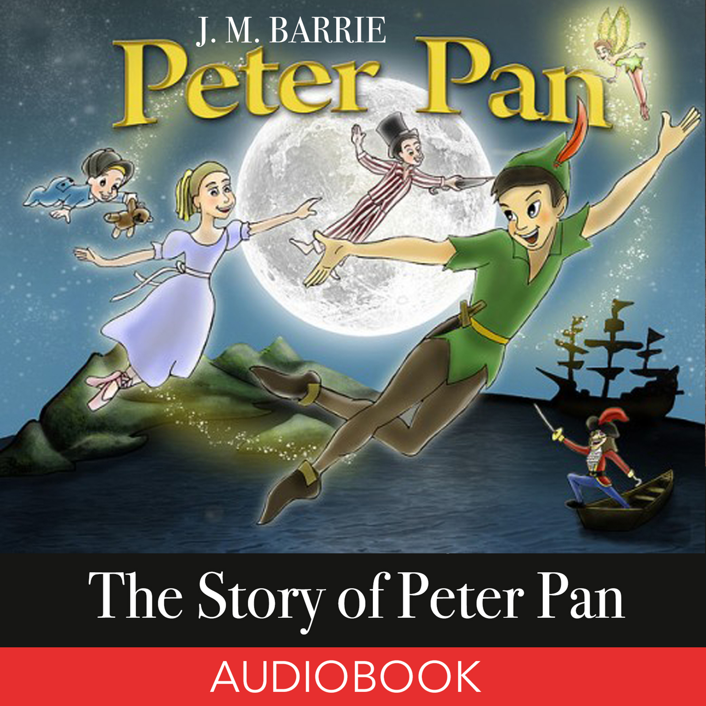 Printable The Story of Peter Pan Audiobook Cover Art