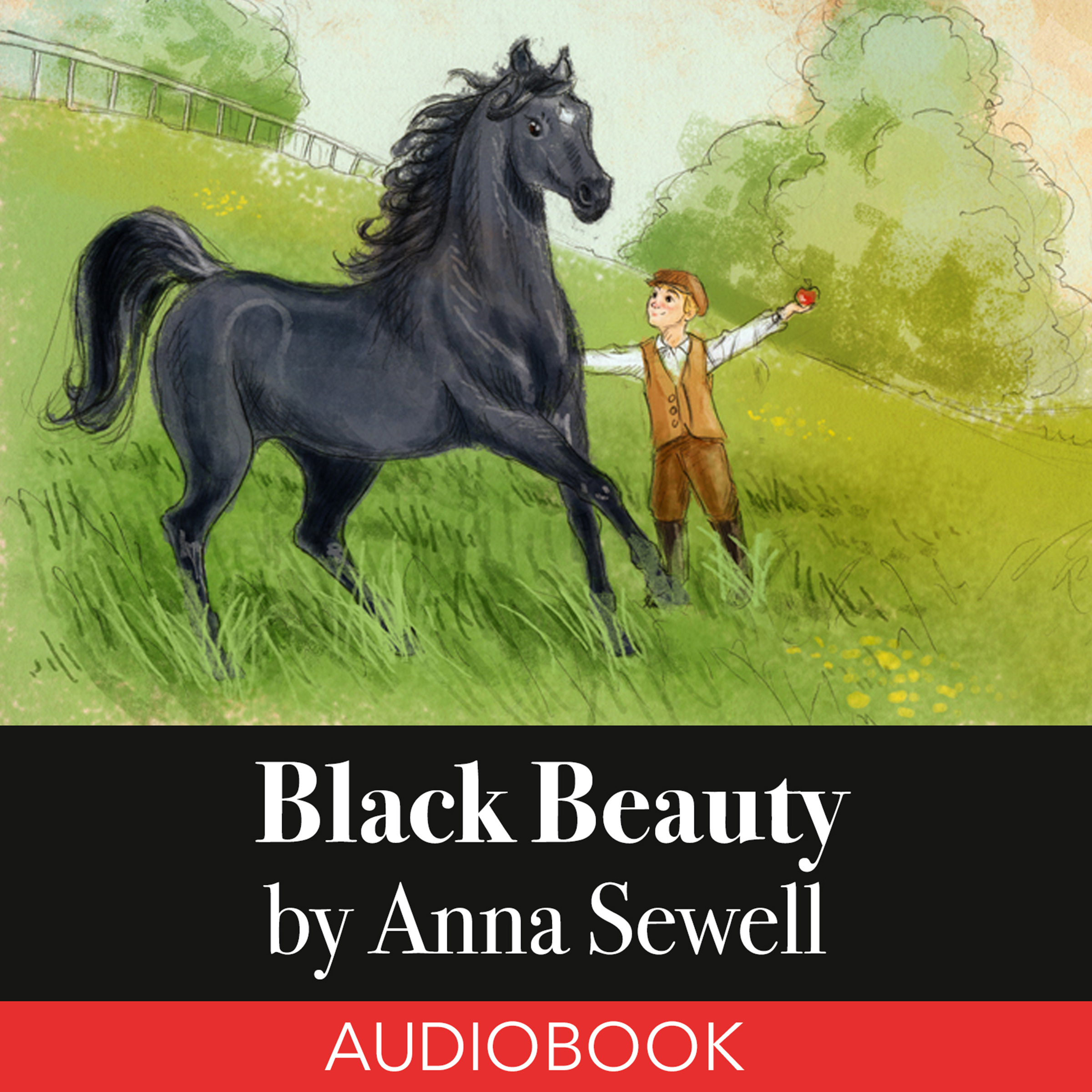 Printable Black Beauty - Young Folks' Edition Audiobook Cover Art