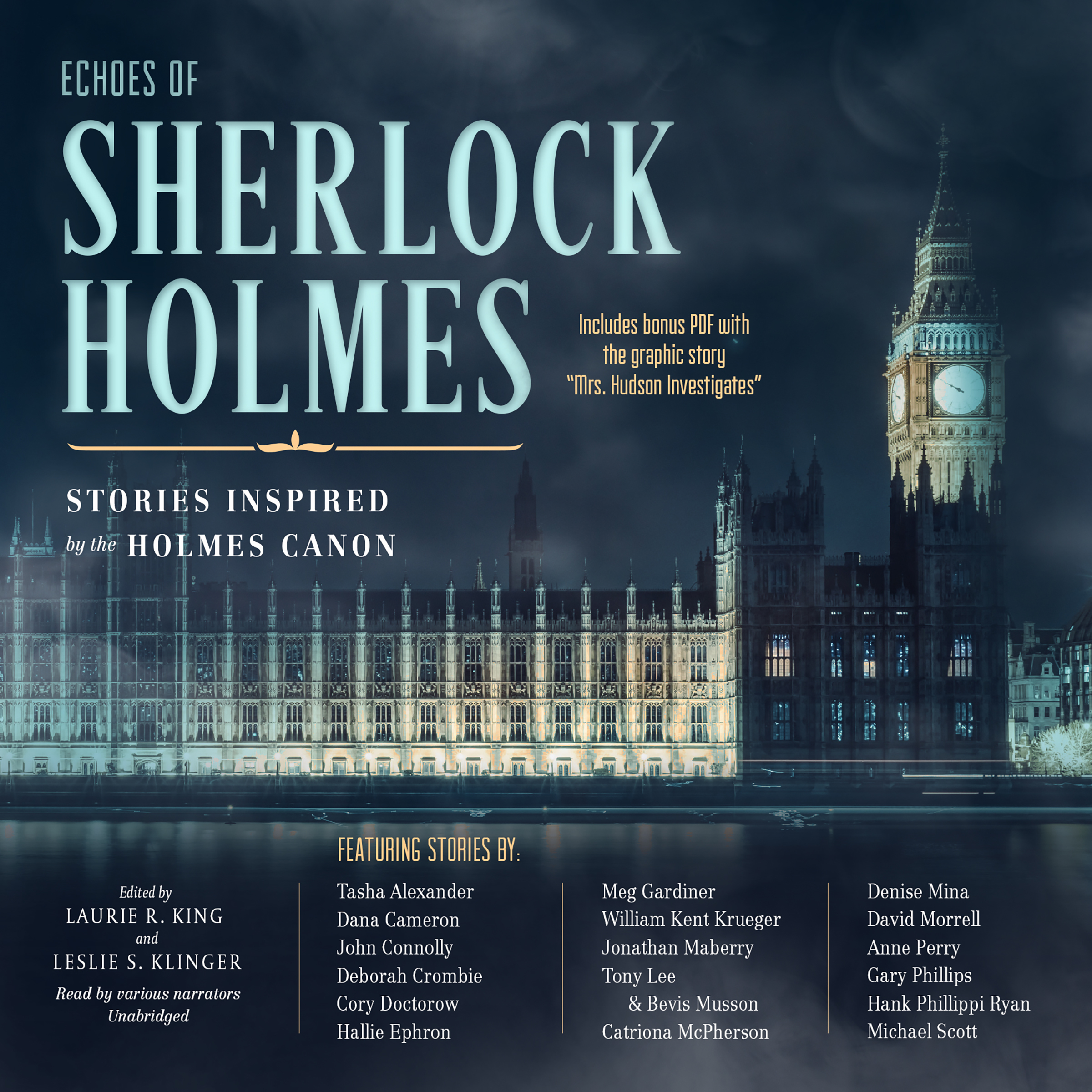 Printable Echoes of Sherlock Holmes: Stories Inspired by the Holmes Canon Audiobook Cover Art