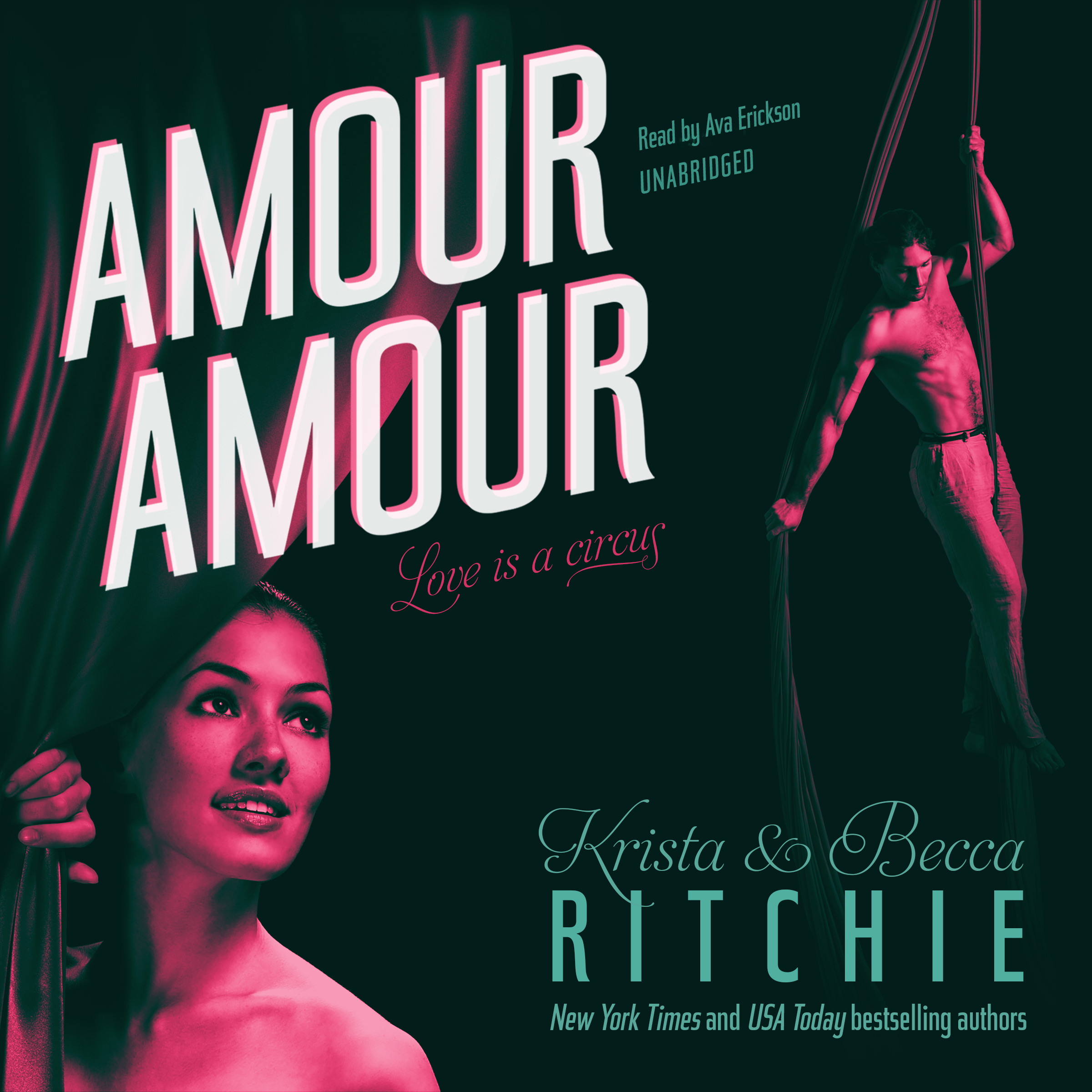 Printable Amour Amour Audiobook Cover Art