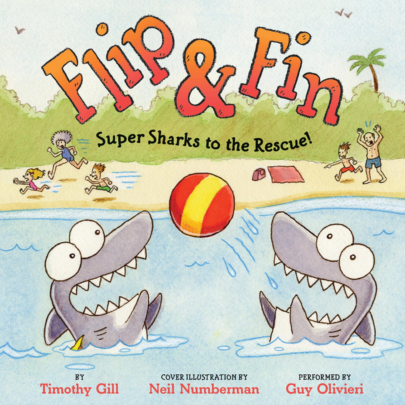 Printable Flip & Fin: Super Sharks to the Rescue! Audiobook Cover Art
