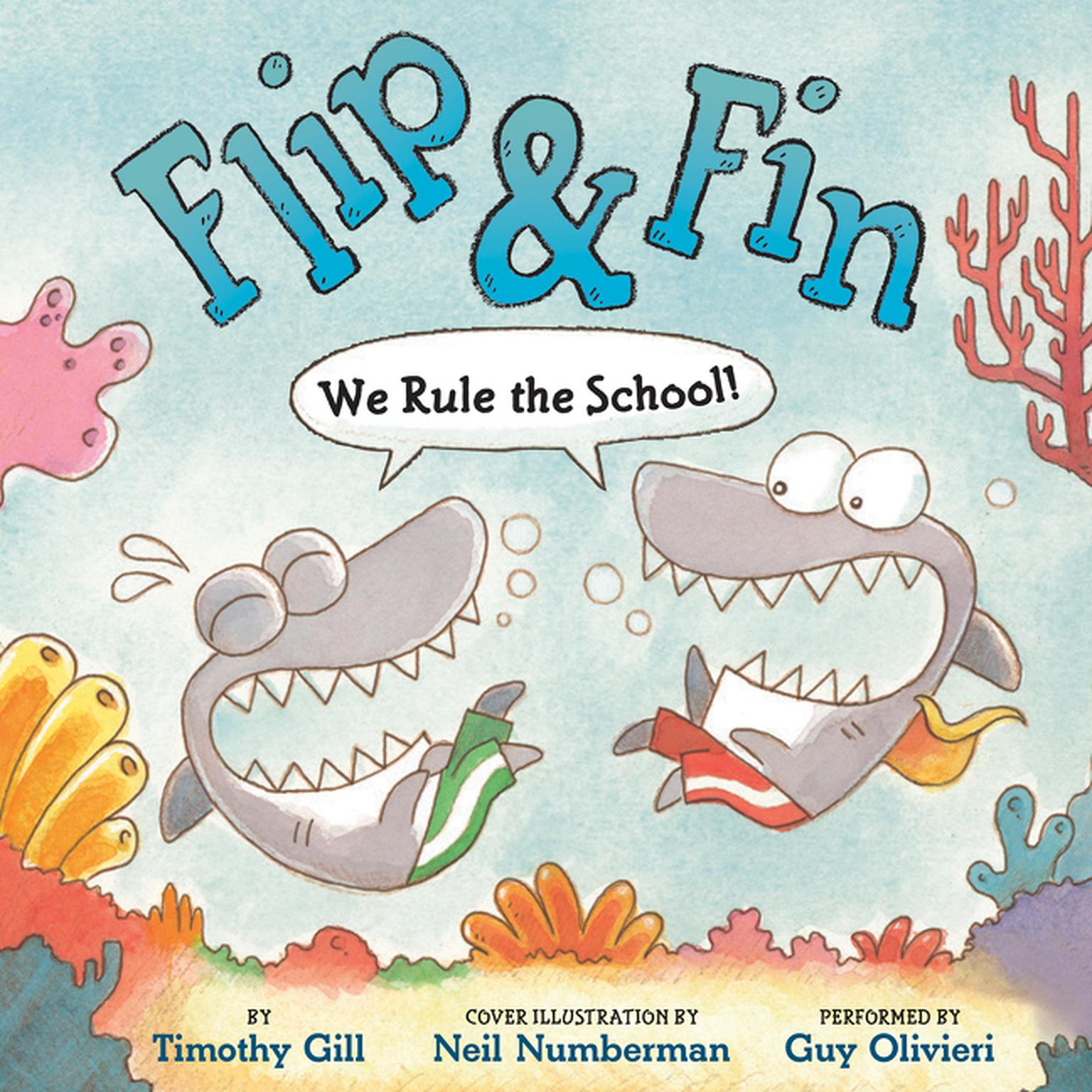Printable Flip & Fin: We Rule the School! Audiobook Cover Art