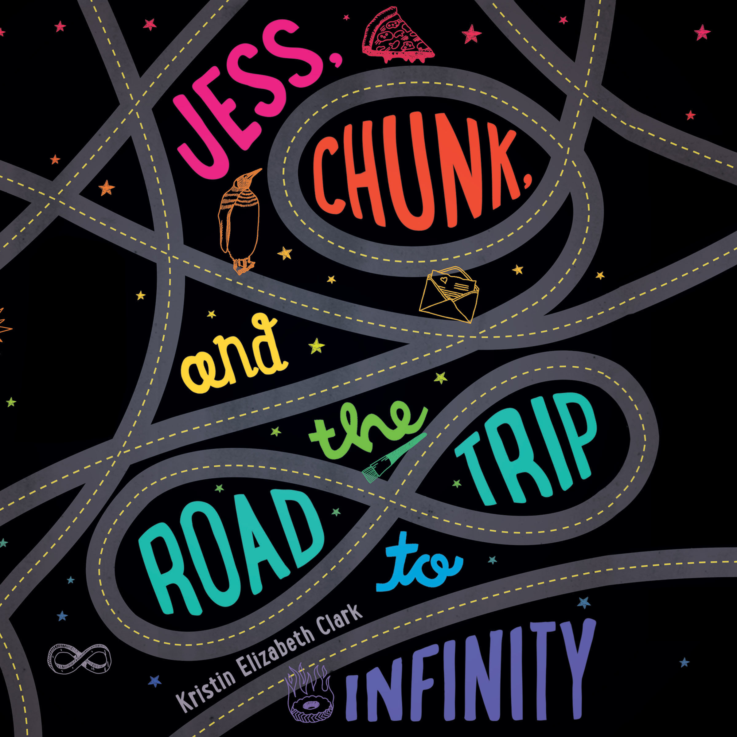 Printable Jess, Chunk, and the Road Trip to Infinity Audiobook Cover Art