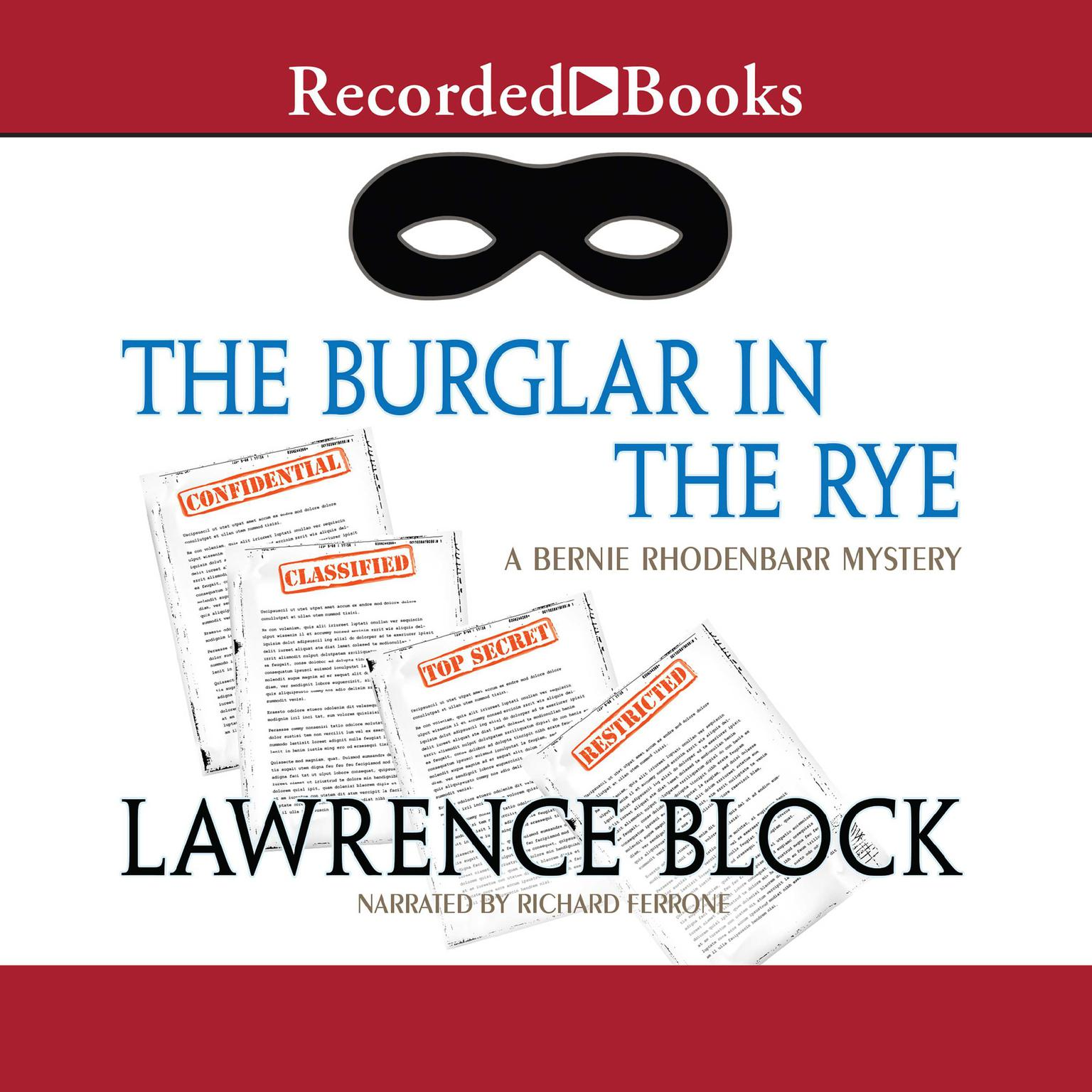 Printable The Burglar in the Rye Audiobook Cover Art