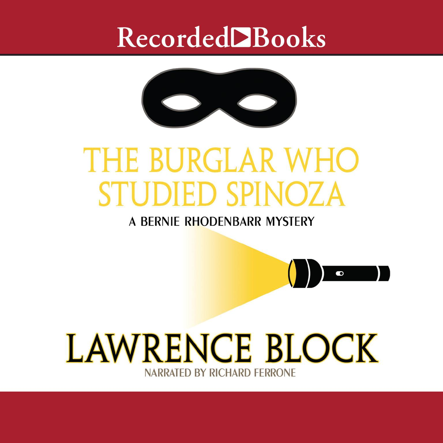 Printable The Burglar Who Studied Spinoza Audiobook Cover Art