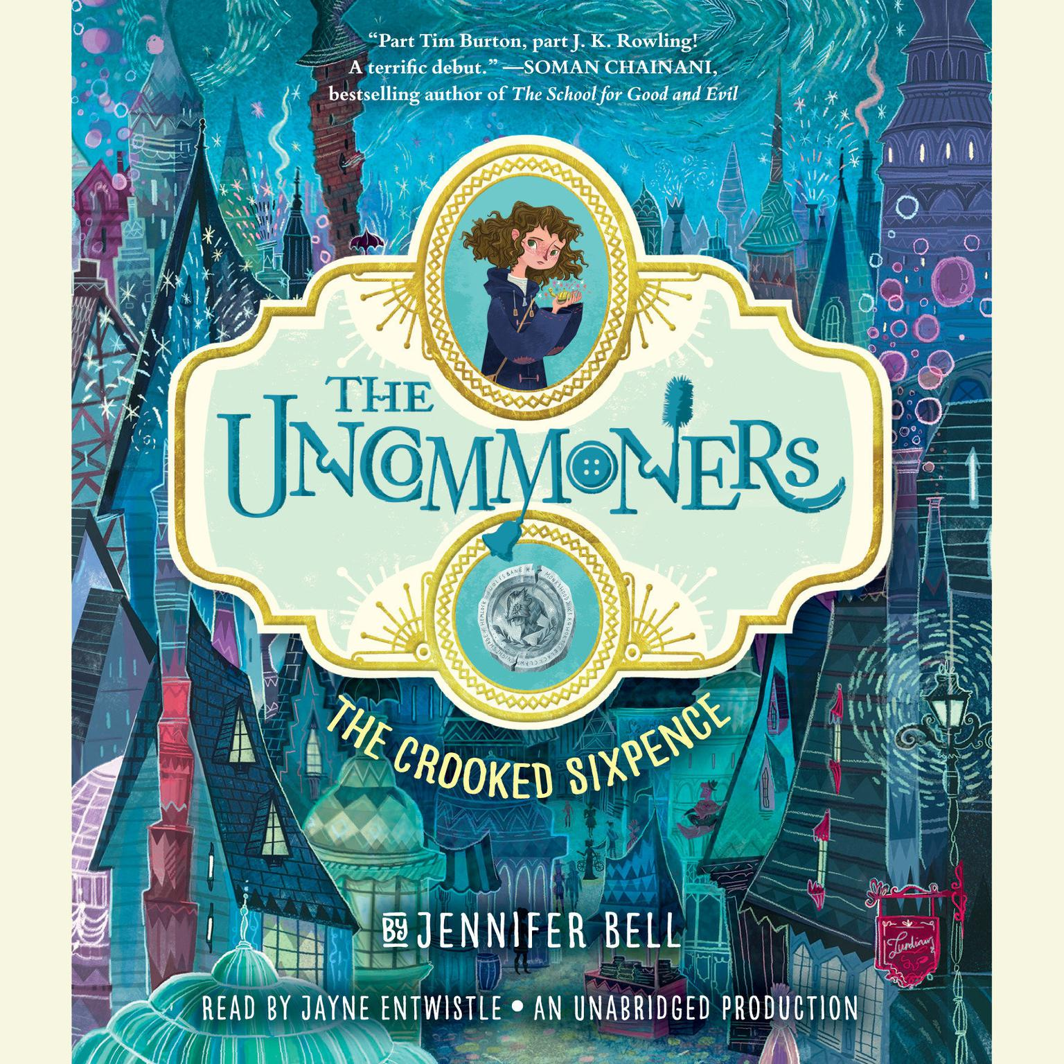 Printable The Uncommoners #1: The Crooked Sixpence Audiobook Cover Art