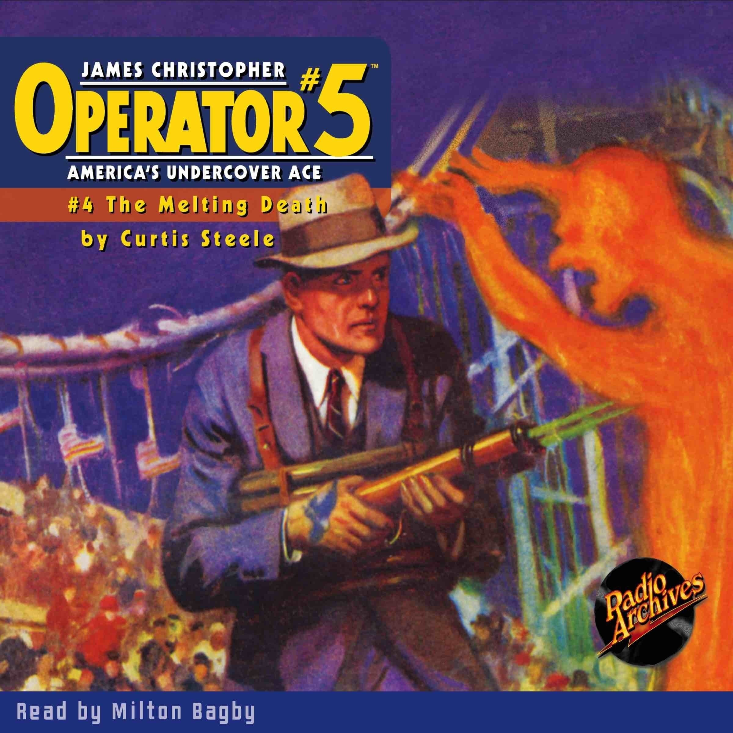 Printable Operator #5 V4: The Melting Death Audiobook Cover Art